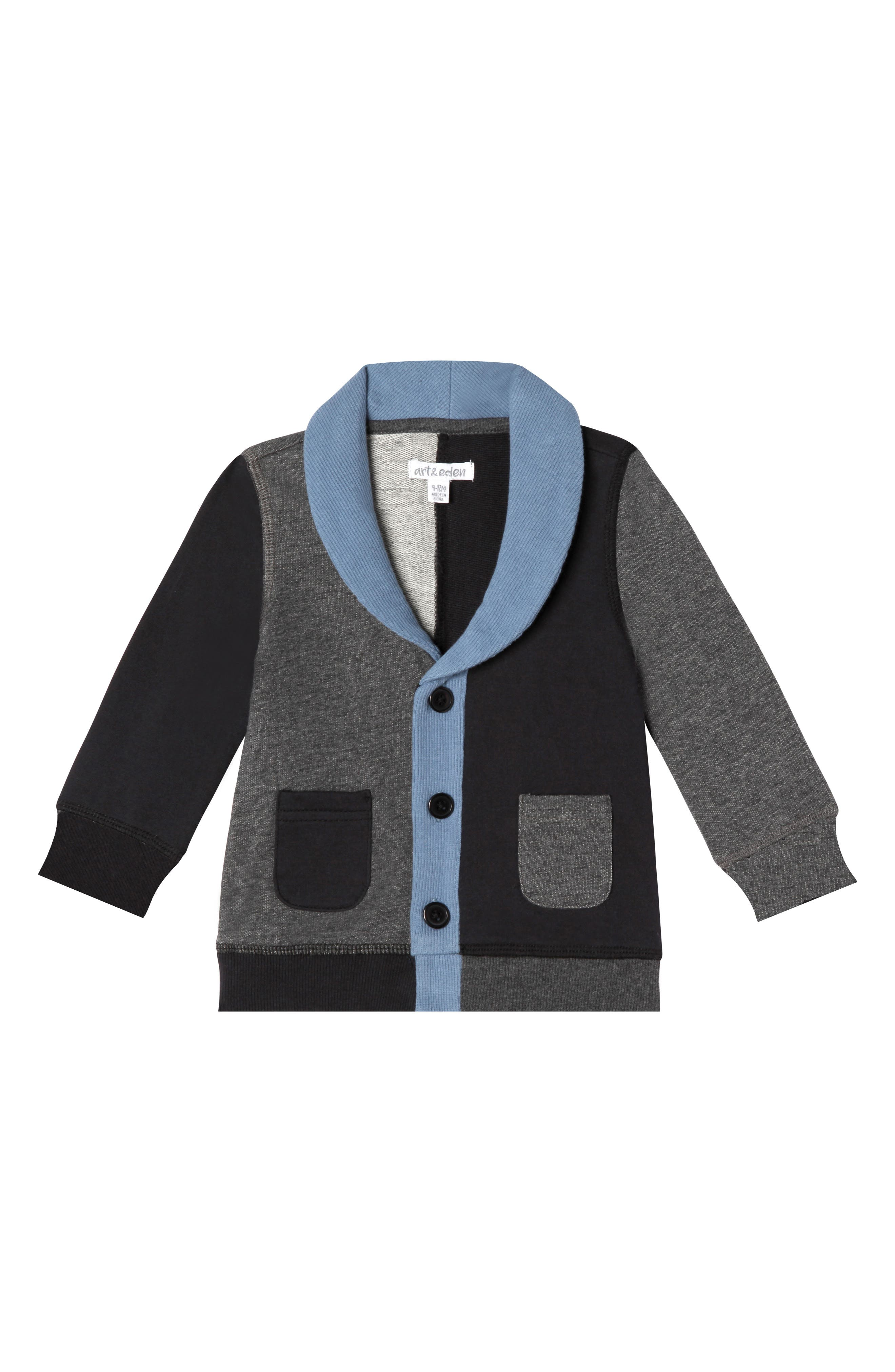 Boys Art  Eden Pierre Organic Cotton Cardigan Size 5  Black