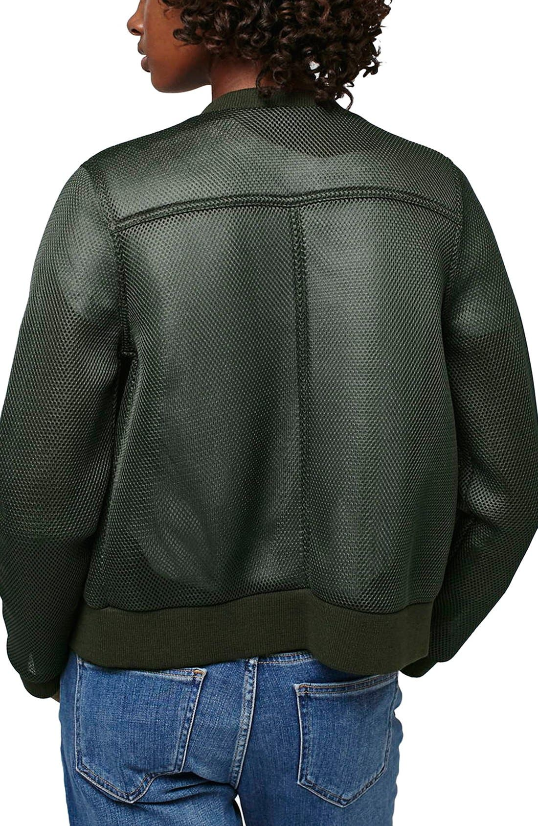 TOPSHOP, 'Airtex' Bomber Jacket, Alternate thumbnail 2, color, 300