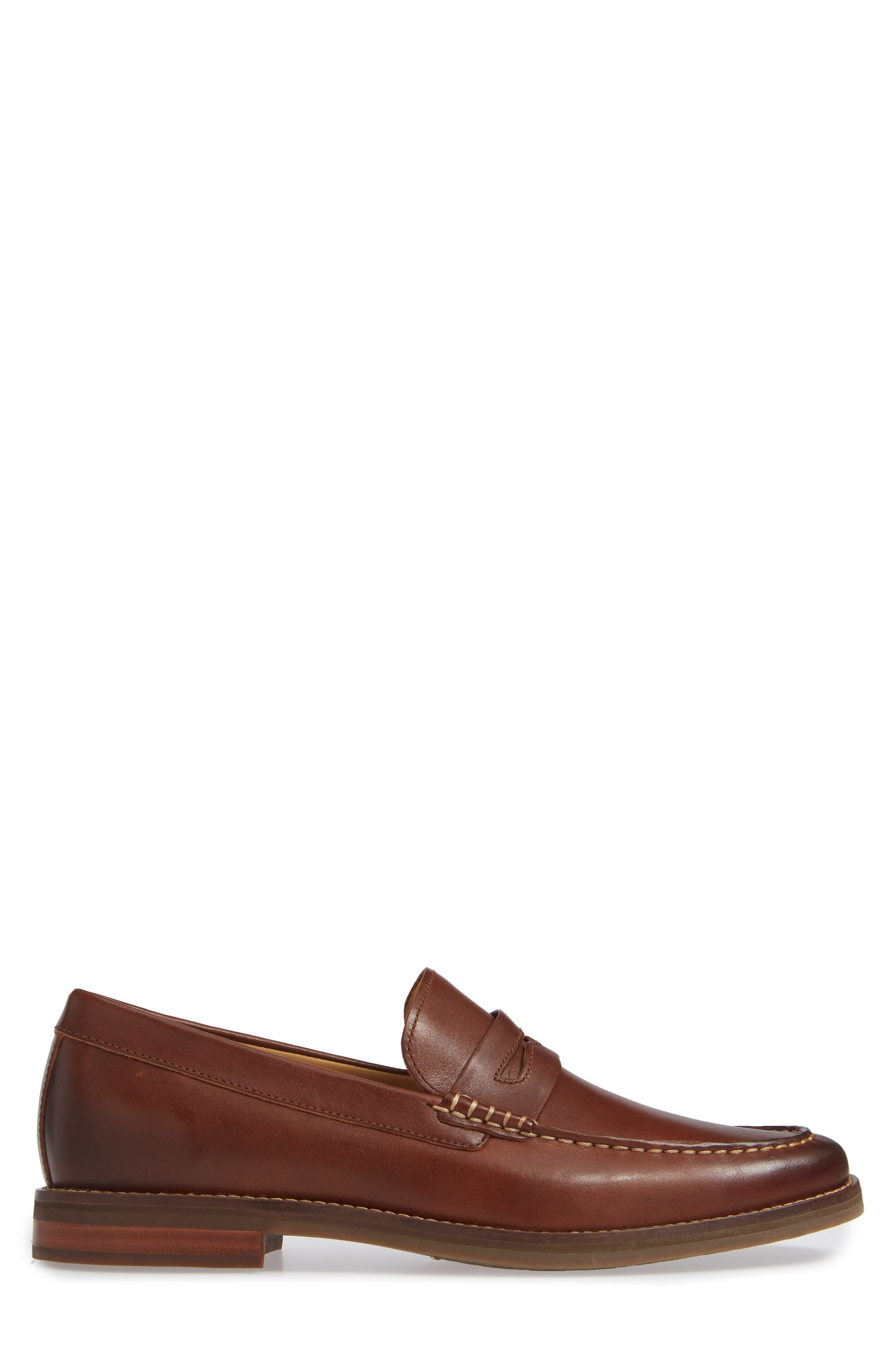 SPERRY, Gold Cup Exeter Penny Loafer, Alternate thumbnail 3, color, TAN