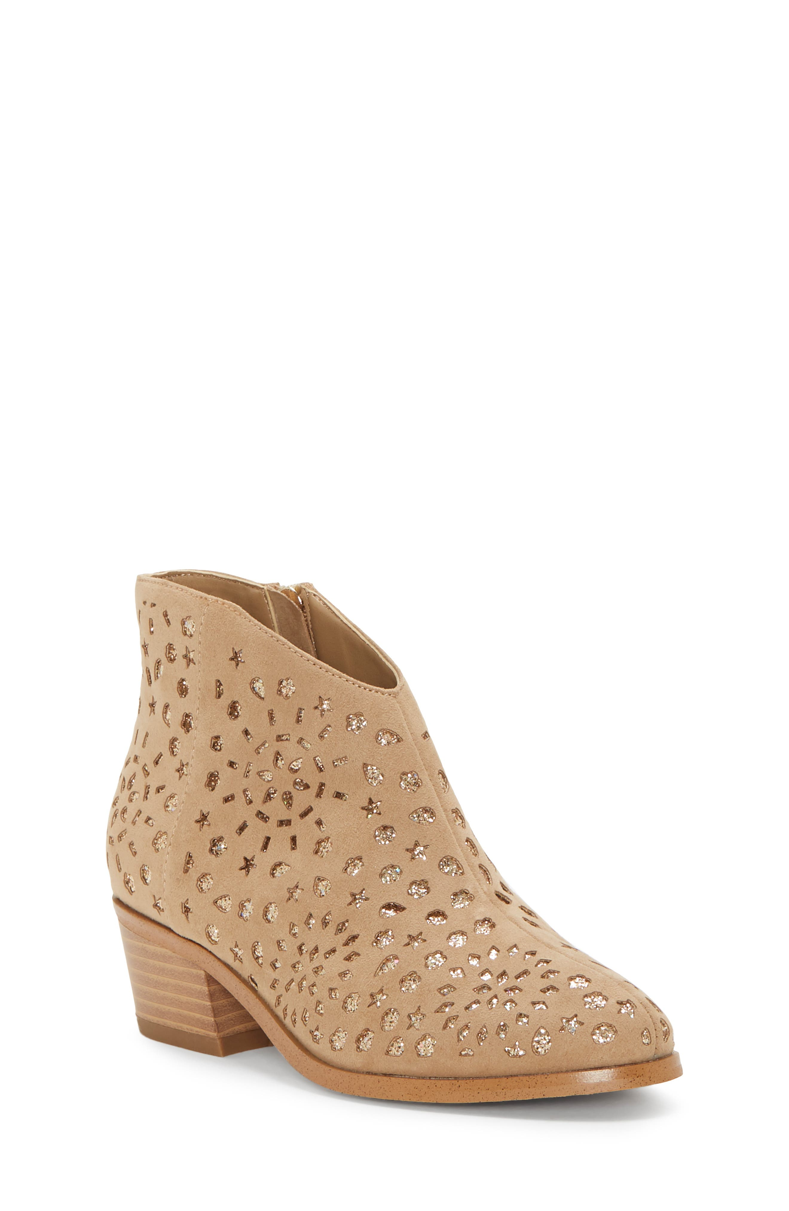 VINCE CAMUTO, Perforated Glitter Boot, Main thumbnail 1, color, 718