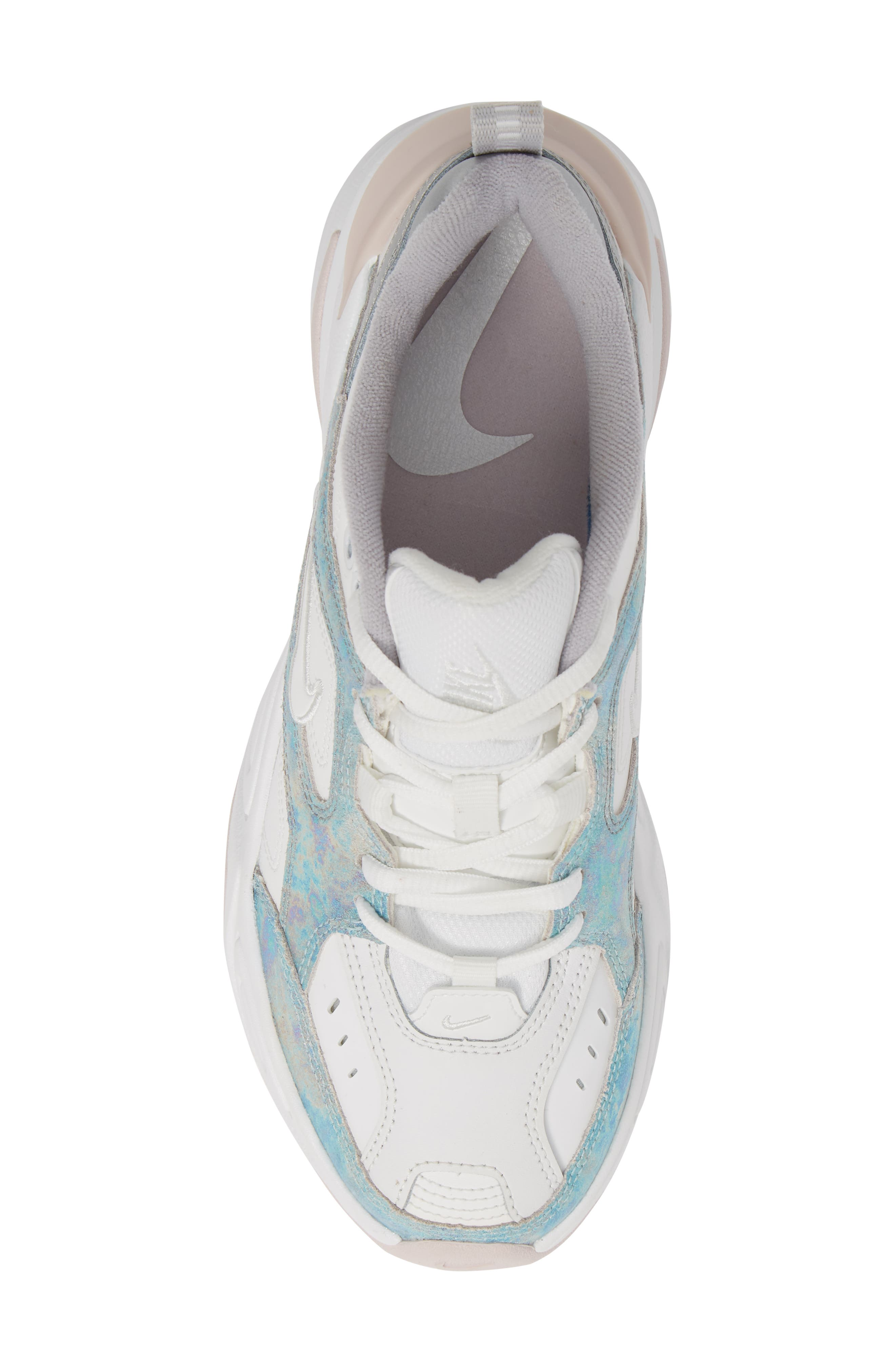 NIKE, M2K Tekno Sneaker, Alternate thumbnail 5, color, SUMMIT WHITE/ BARELY ROSE