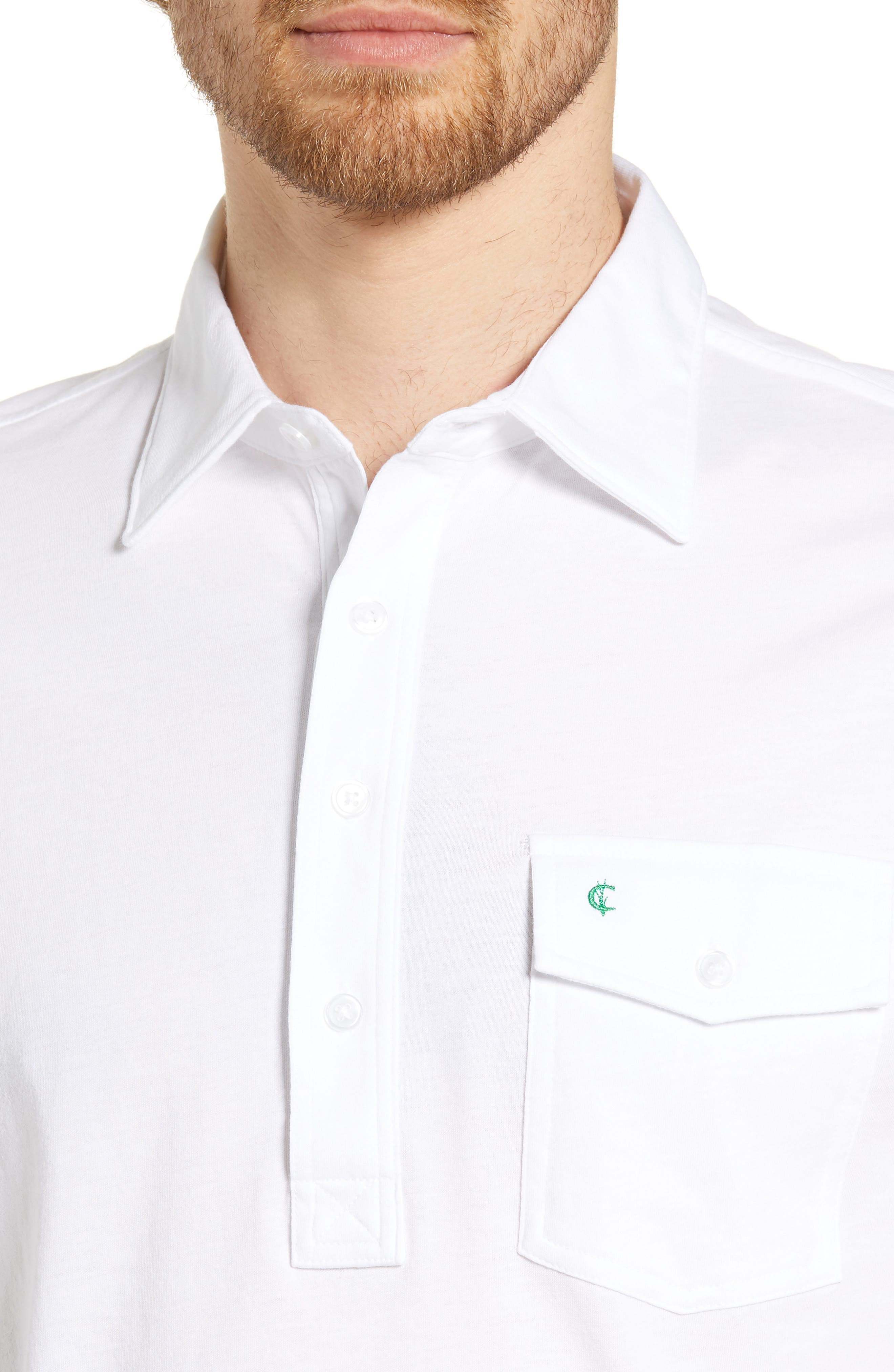 CRIQUET, Regular Fit Players Jersey Polo, Alternate thumbnail 4, color, WHITE