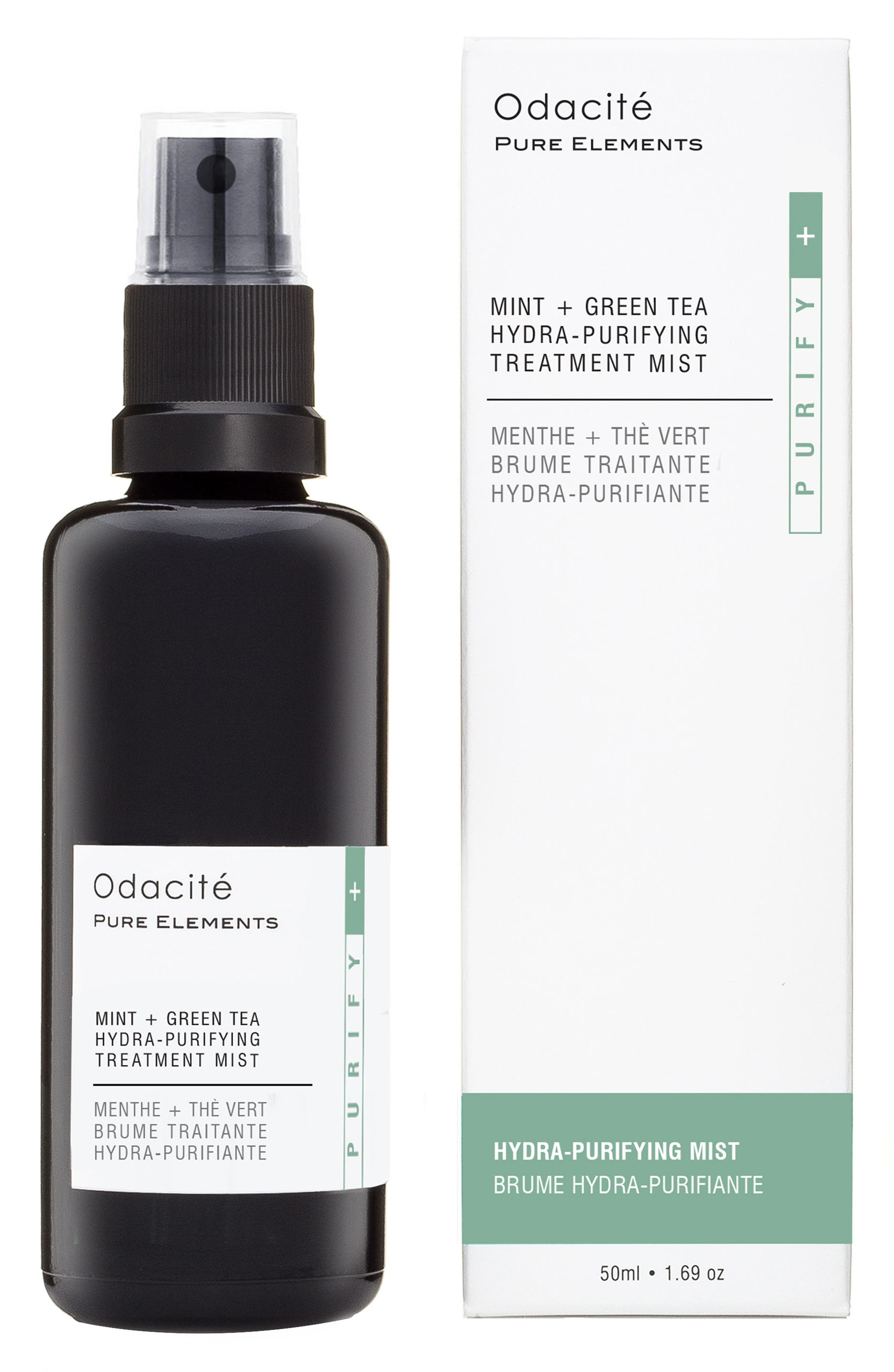 ODACITÉ Mint + Green Tea Hydra-Purifying Treatment Mist, Main, color, NO COLOR