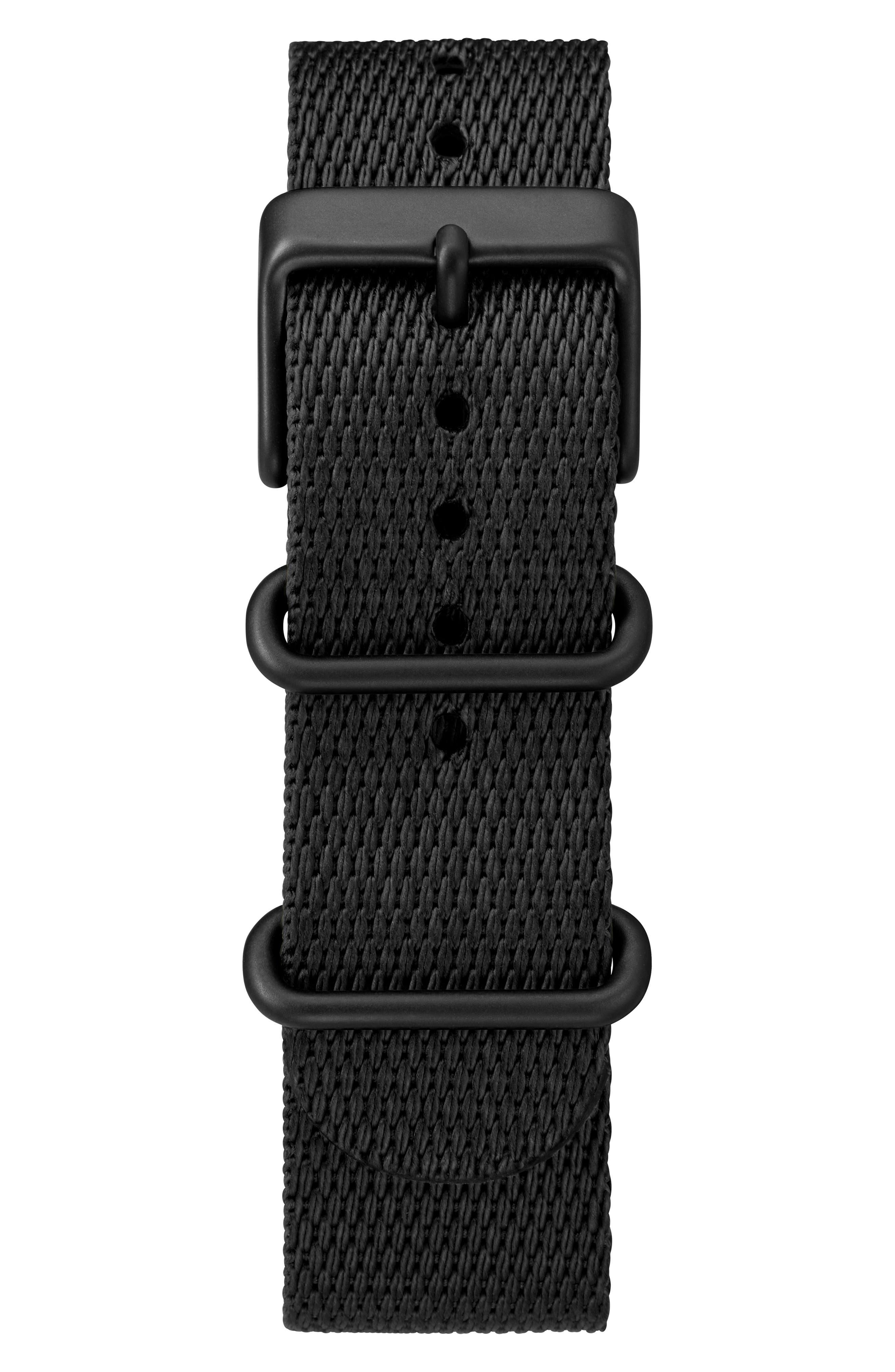TIMEX<SUP>®</SUP>, Standard Textile Strap Watch, 41mm, Alternate thumbnail 2, color, BLACK