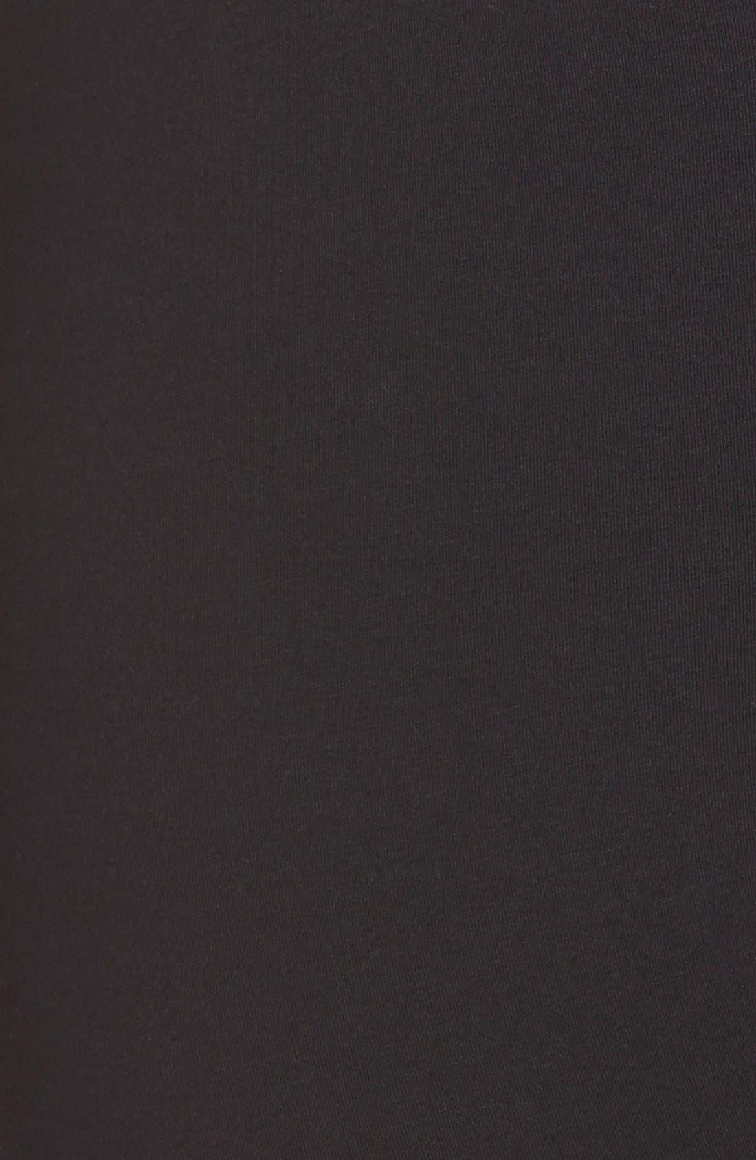 NORDSTROM, 'Go-To' Skimmer Leggings, Alternate thumbnail 5, color, 001