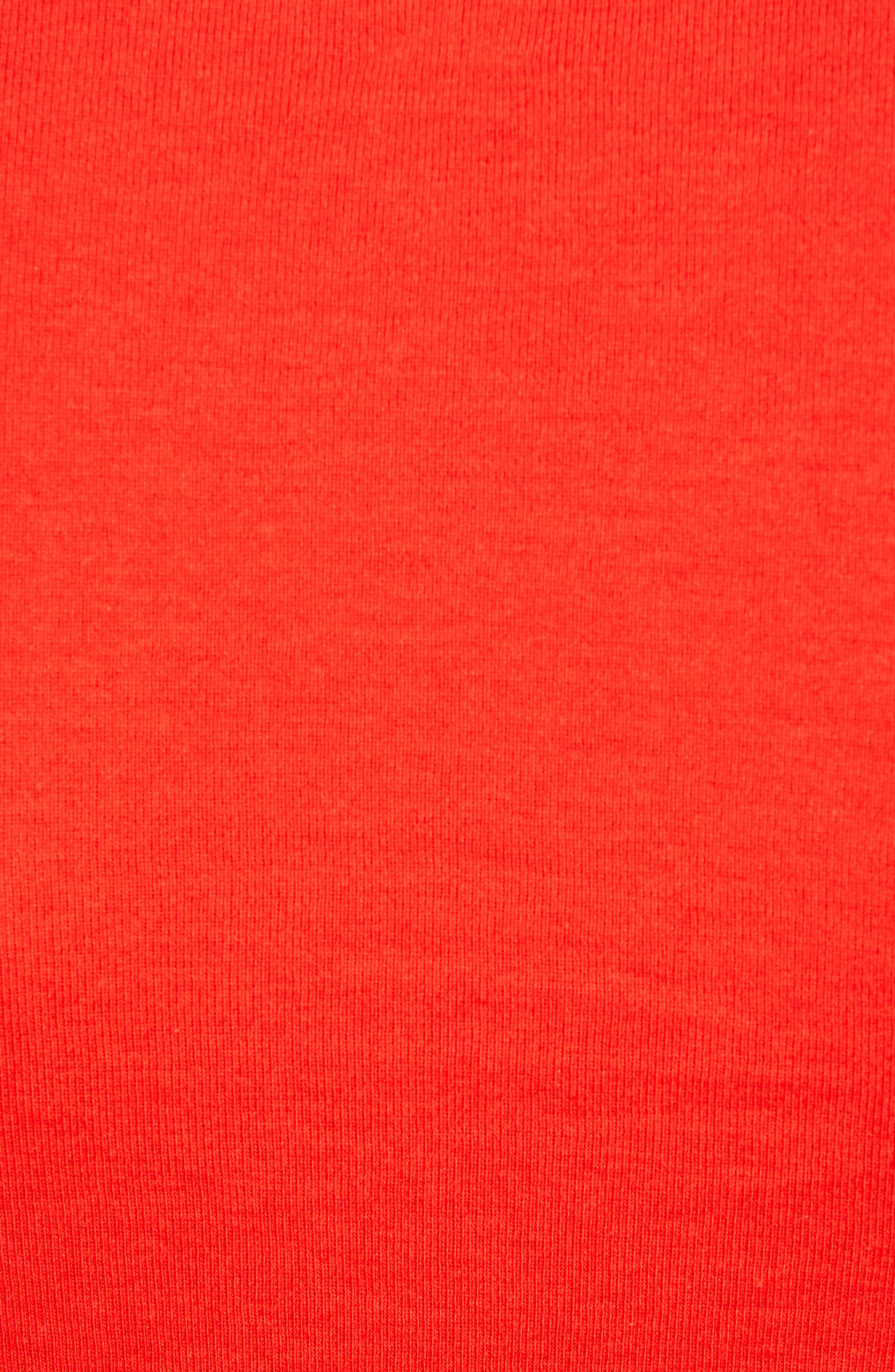 CASLON<SUP>®</SUP>, Long Sleeve Scoop Neck Cotton Tee, Alternate thumbnail 6, color, RED SCARLET