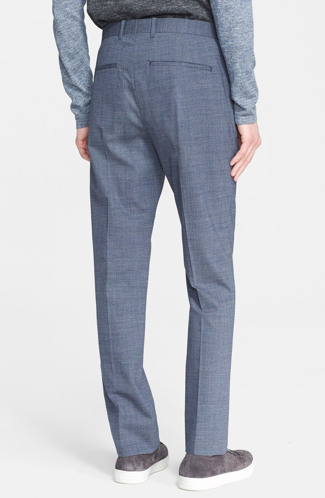 THEORY, 'Jake' Stretch Wool Trousers, Alternate thumbnail 2, color, 462