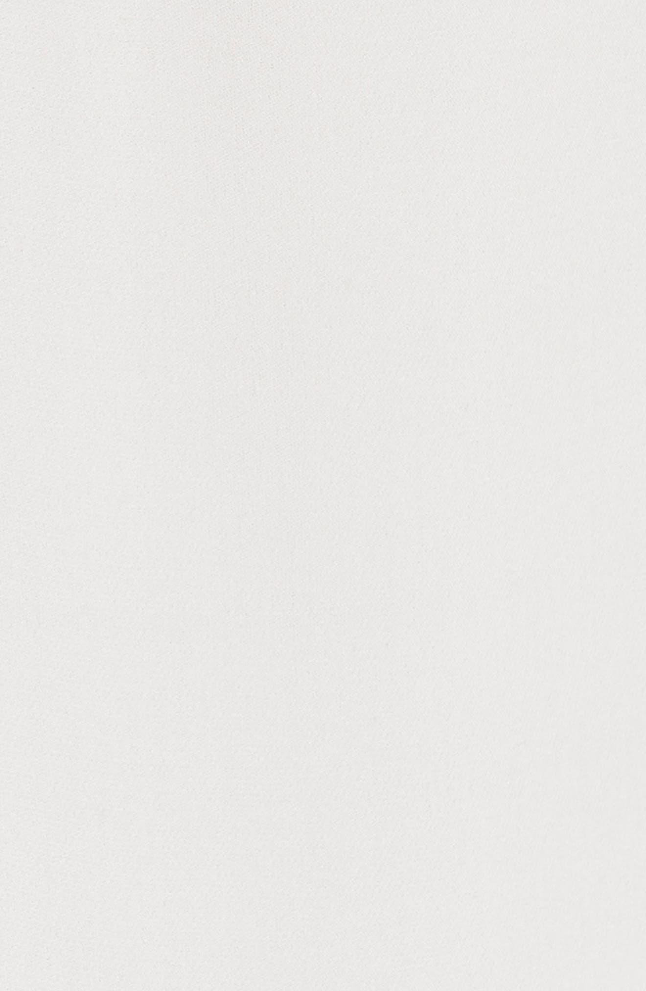 REBECCA TAYLOR, Pleat Hem Tank, Alternate thumbnail 5, color, SNOW