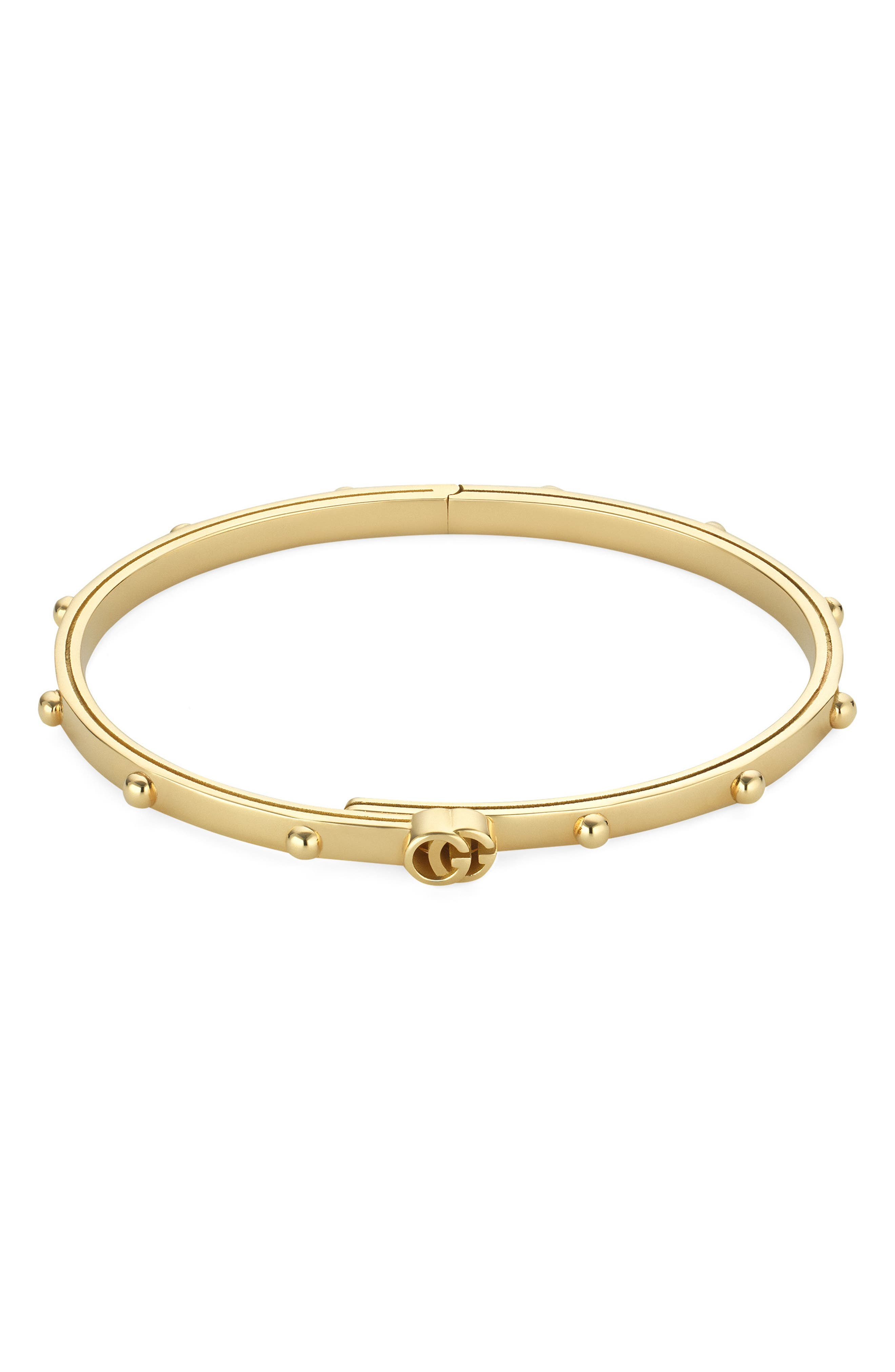 GUCCI Running GG Bracelet, Main, color, YELLOW GOLD