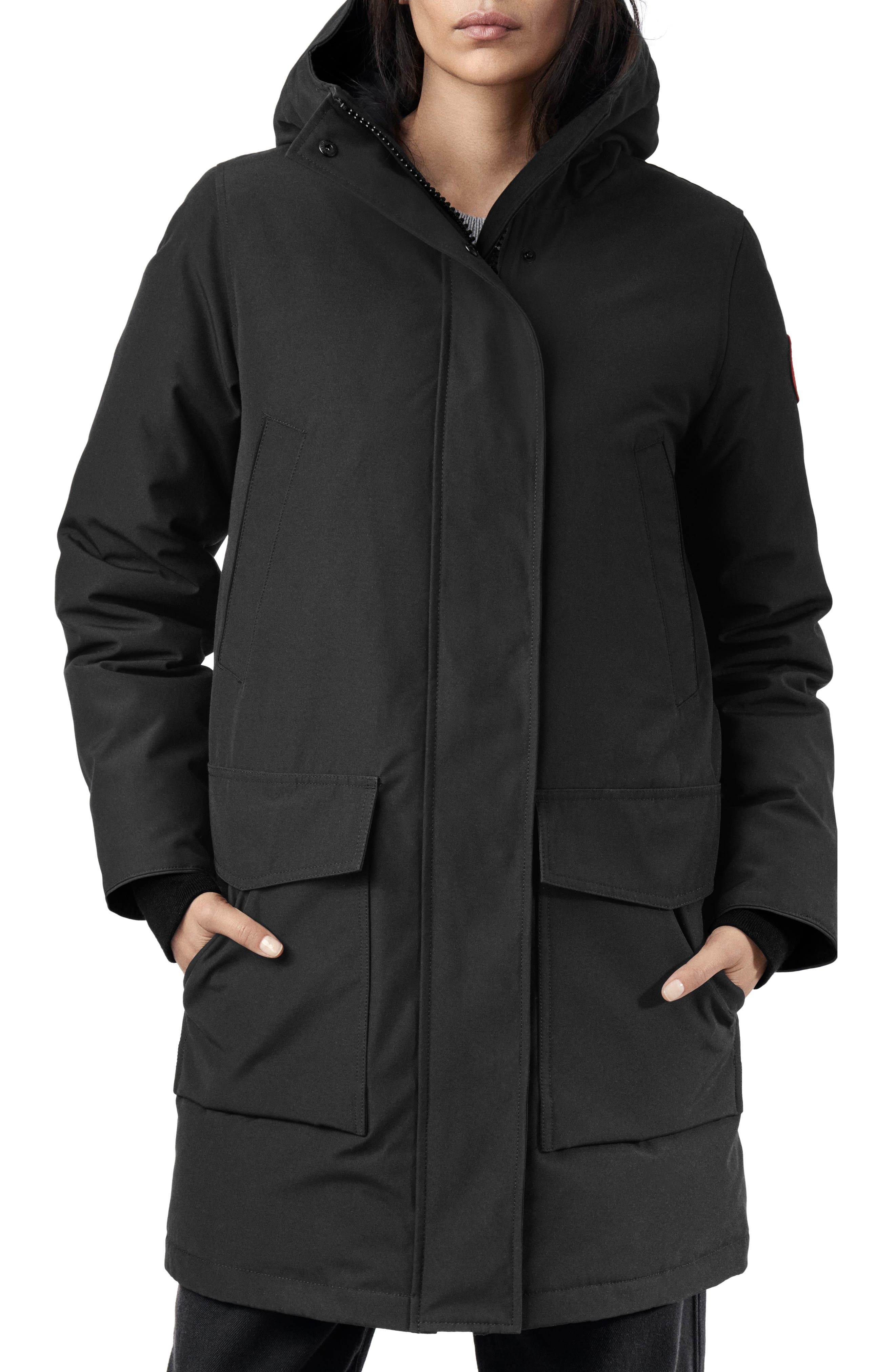 CANADA GOOSE, Canmore 625 Fill Power Down Parka, Main thumbnail 1, color, BLACK