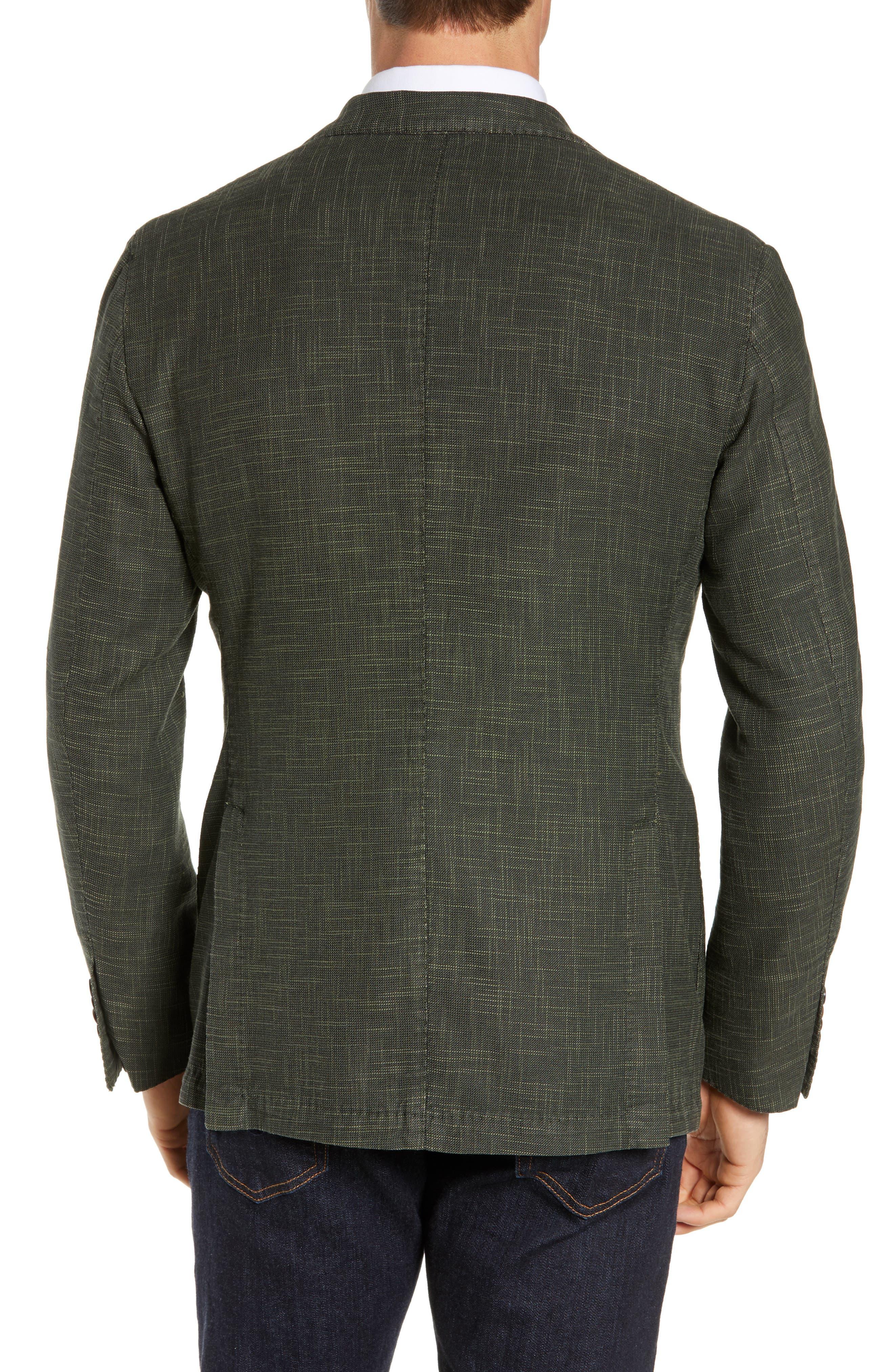 L.B.M. 1911, Trim Fit Cotton Blend Sport Coat, Alternate thumbnail 2, color, DARK GREEN