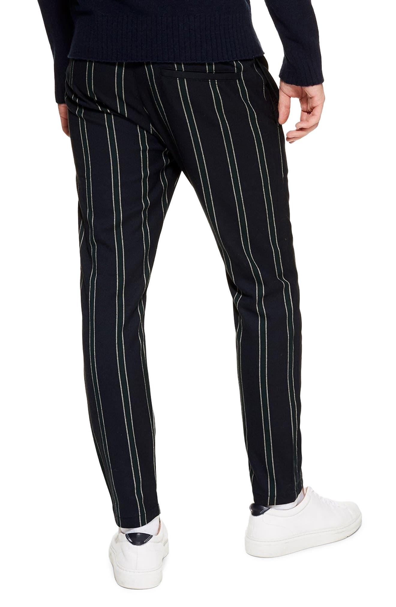 TOPMAN, Stripe Jogger Pants, Alternate thumbnail 2, color, NAVY MULTI