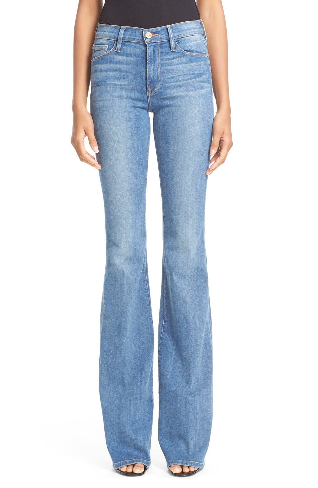 FRAME, Forever Karlie Flare Jeans, Main thumbnail 1, color, 401