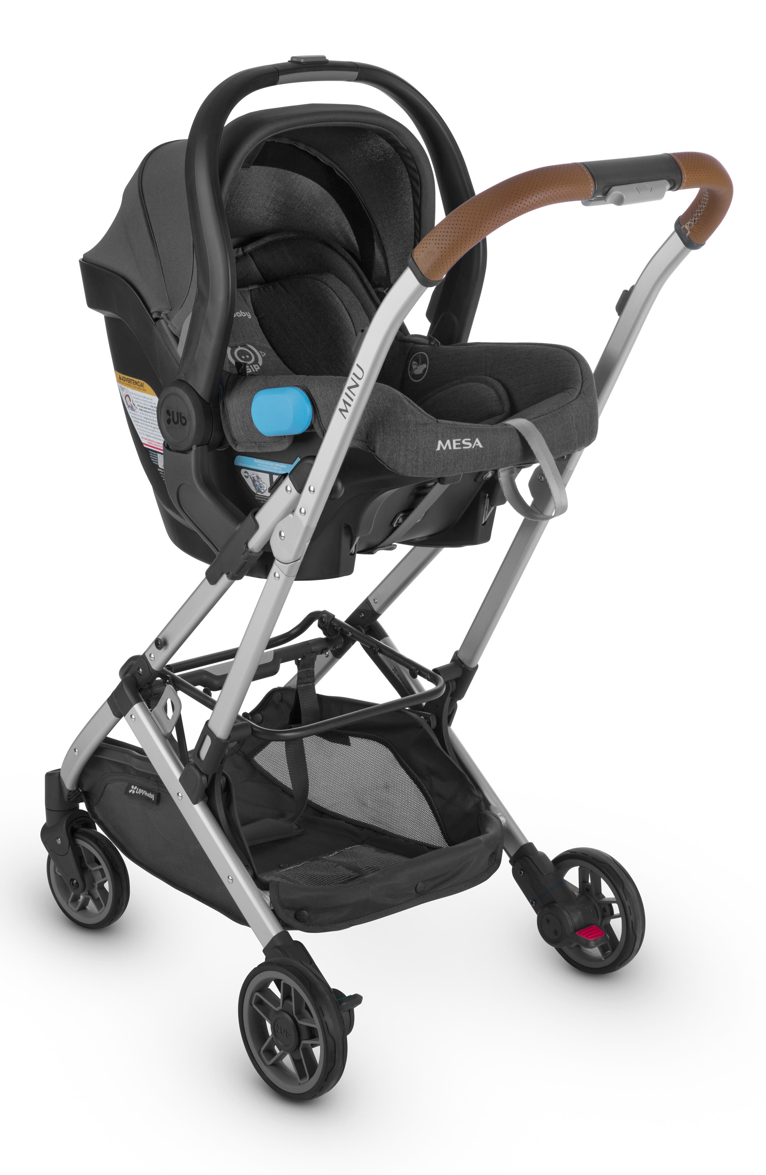 UPPABABY, Minu Stroller to MESA Infant Car Seat Adapter, Alternate thumbnail 2, color, BLACK