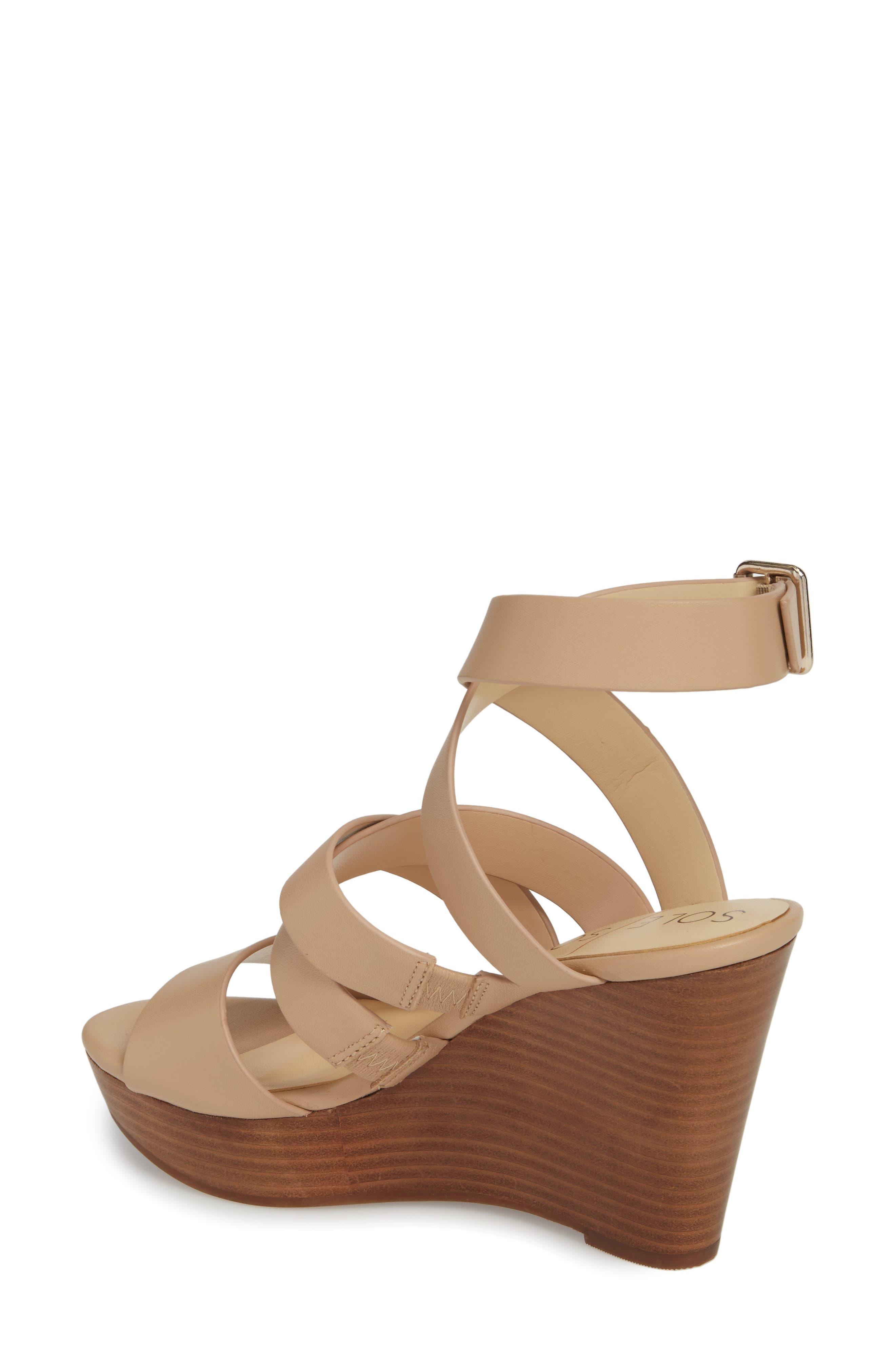 SOLE SOCIETY, Pippy Platform Sandal, Alternate thumbnail 2, color, TAN