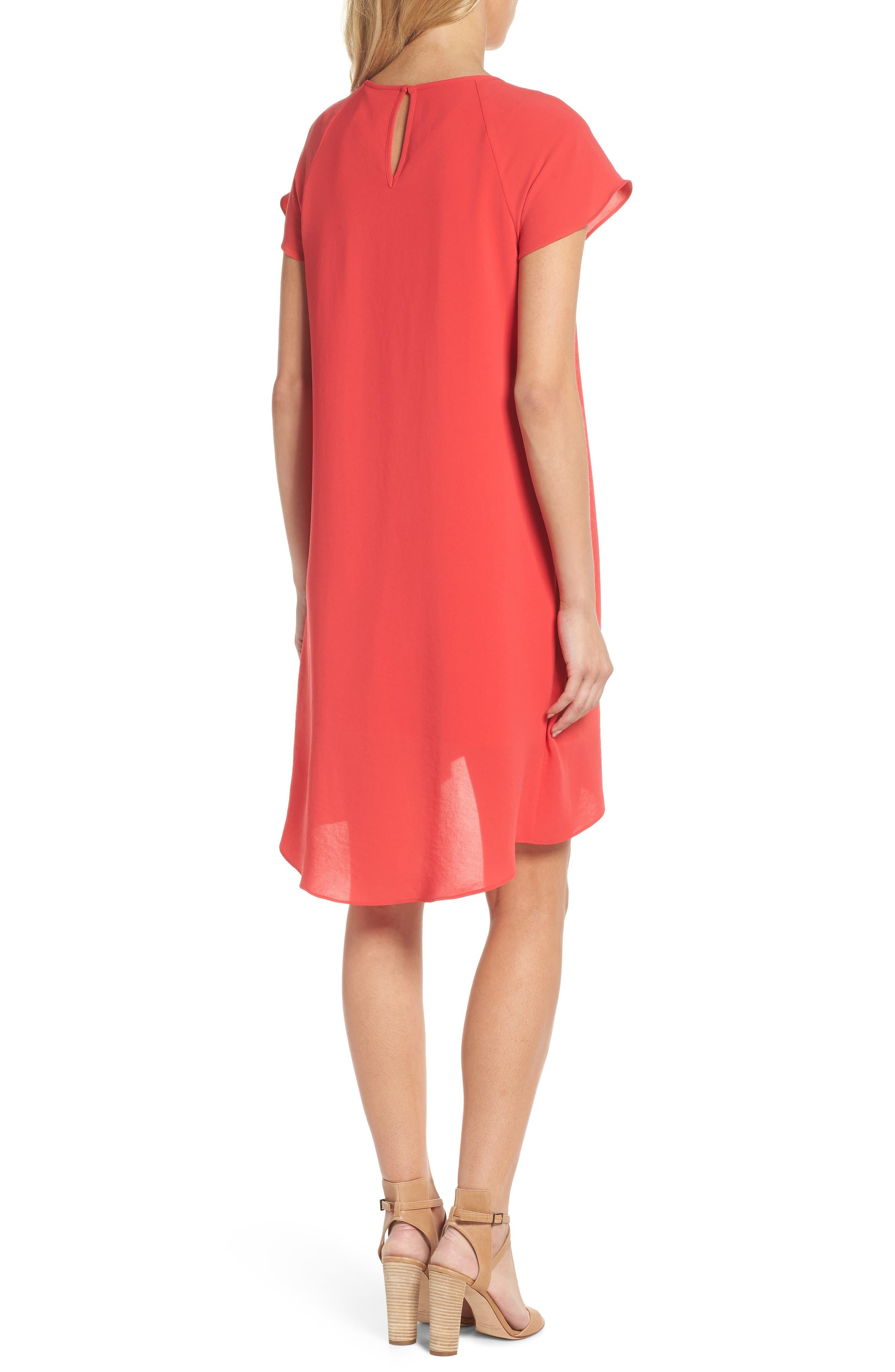 ADRIANNA PAPELL, Crepe Shift Dress, Alternate thumbnail 2, color, 650