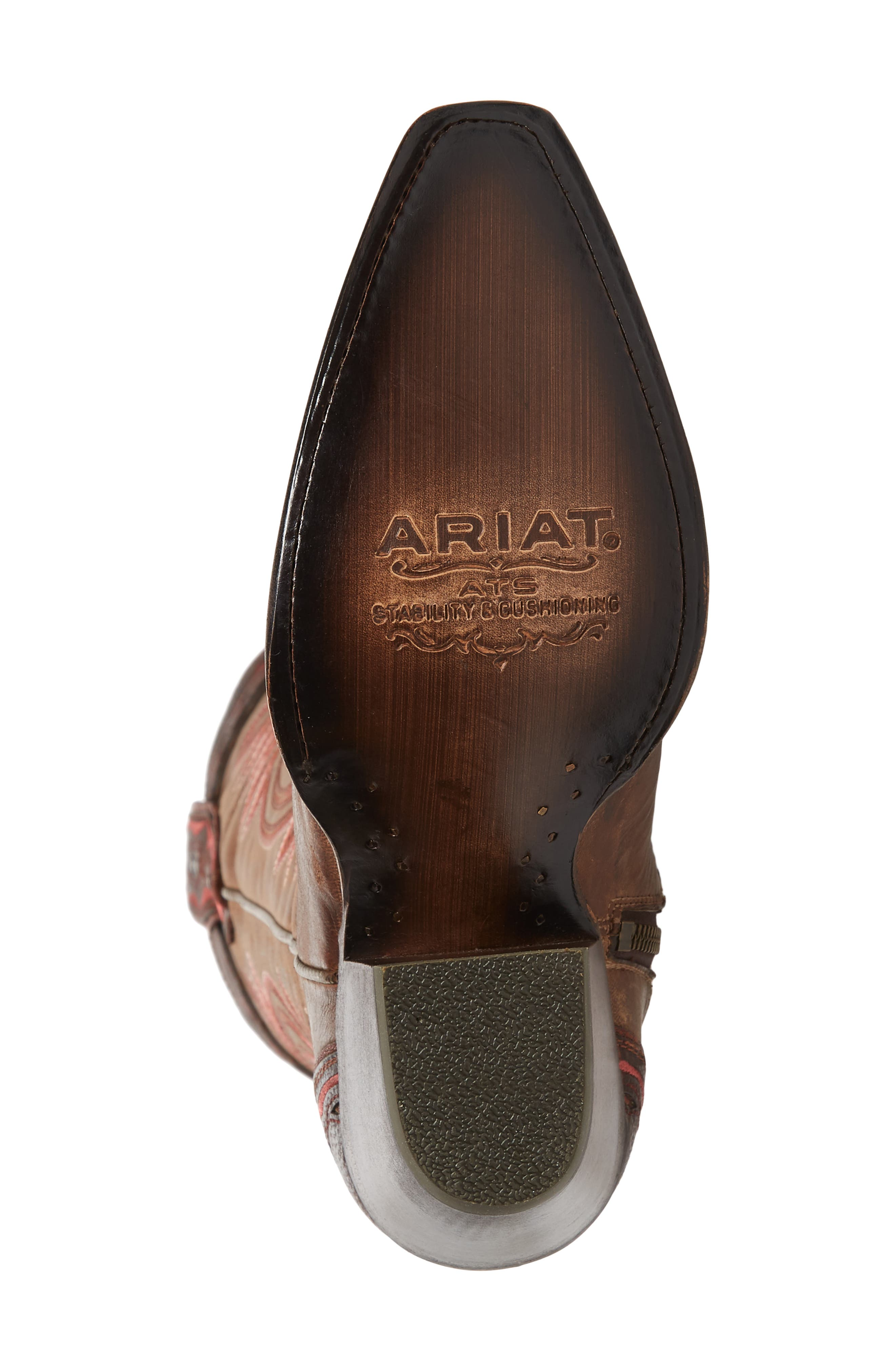 ARIAT, Adelina Western Boot, Alternate thumbnail 6, color, WEATHER TAN LEATHER