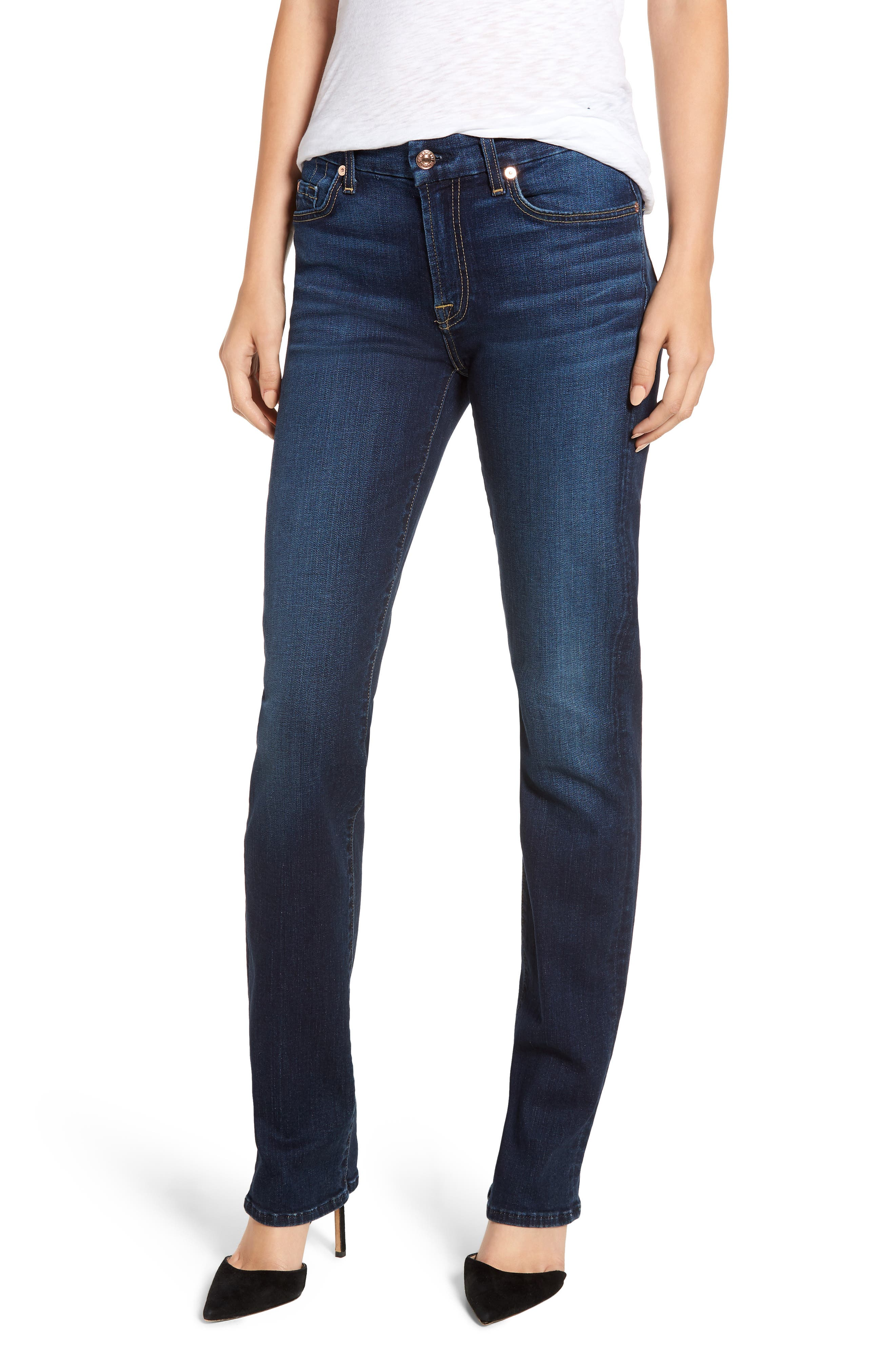 7 FOR ALL MANKIND<SUP>®</SUP>, b(air) Kimmie Straight Leg Jeans, Main thumbnail 1, color, AUTHENTIC FATE