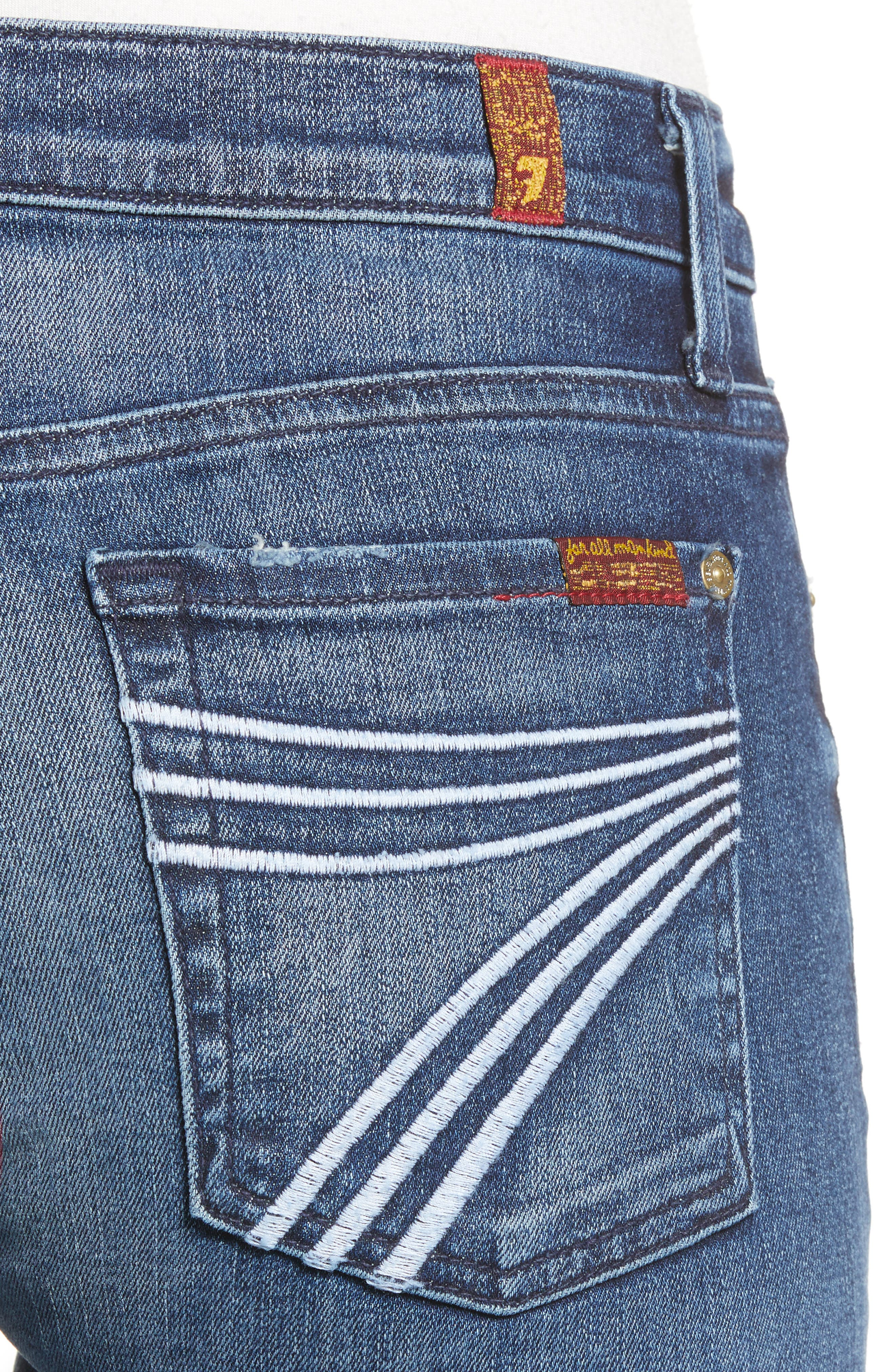 7 FOR ALL MANKIND<SUP>®</SUP>, b(air) Dojo Trouser Jeans, Alternate thumbnail 6, color, 472