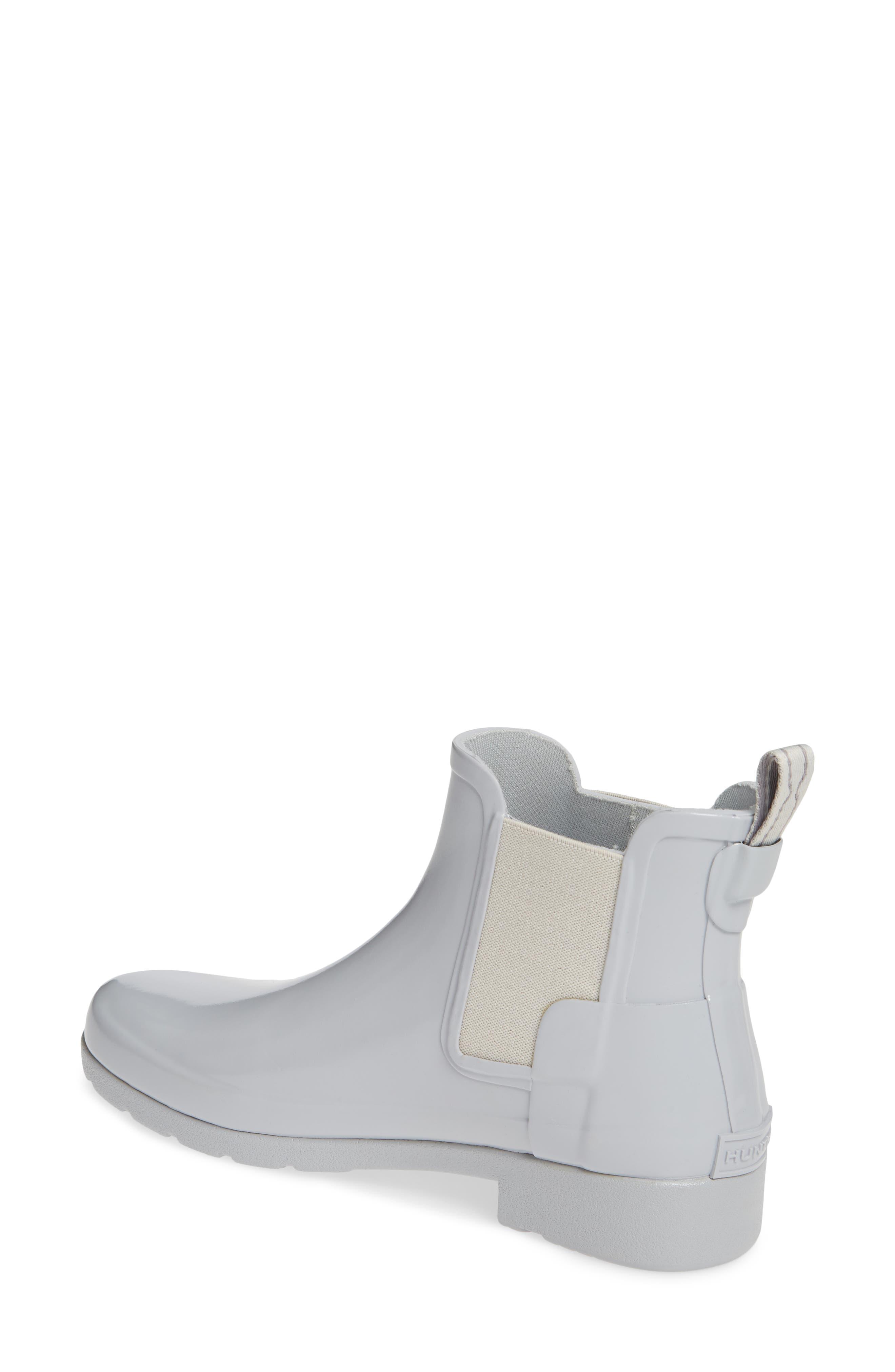 HUNTER, Original Refined Chelsea Waterproof Rain Boot, Alternate thumbnail 2, color, 074