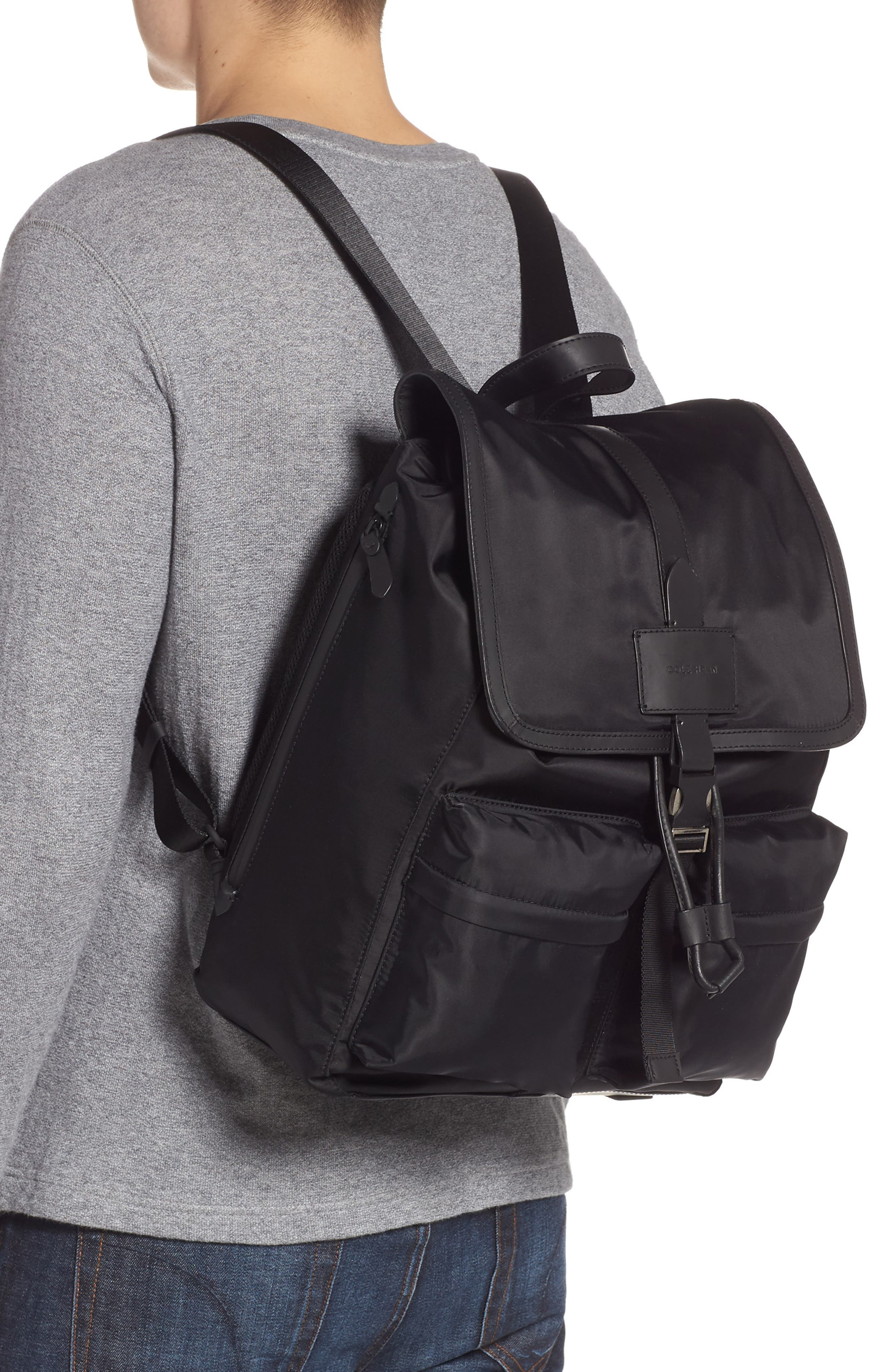 COLE HAAN, ZeroGrand Backpack, Alternate thumbnail 2, color, BLACK