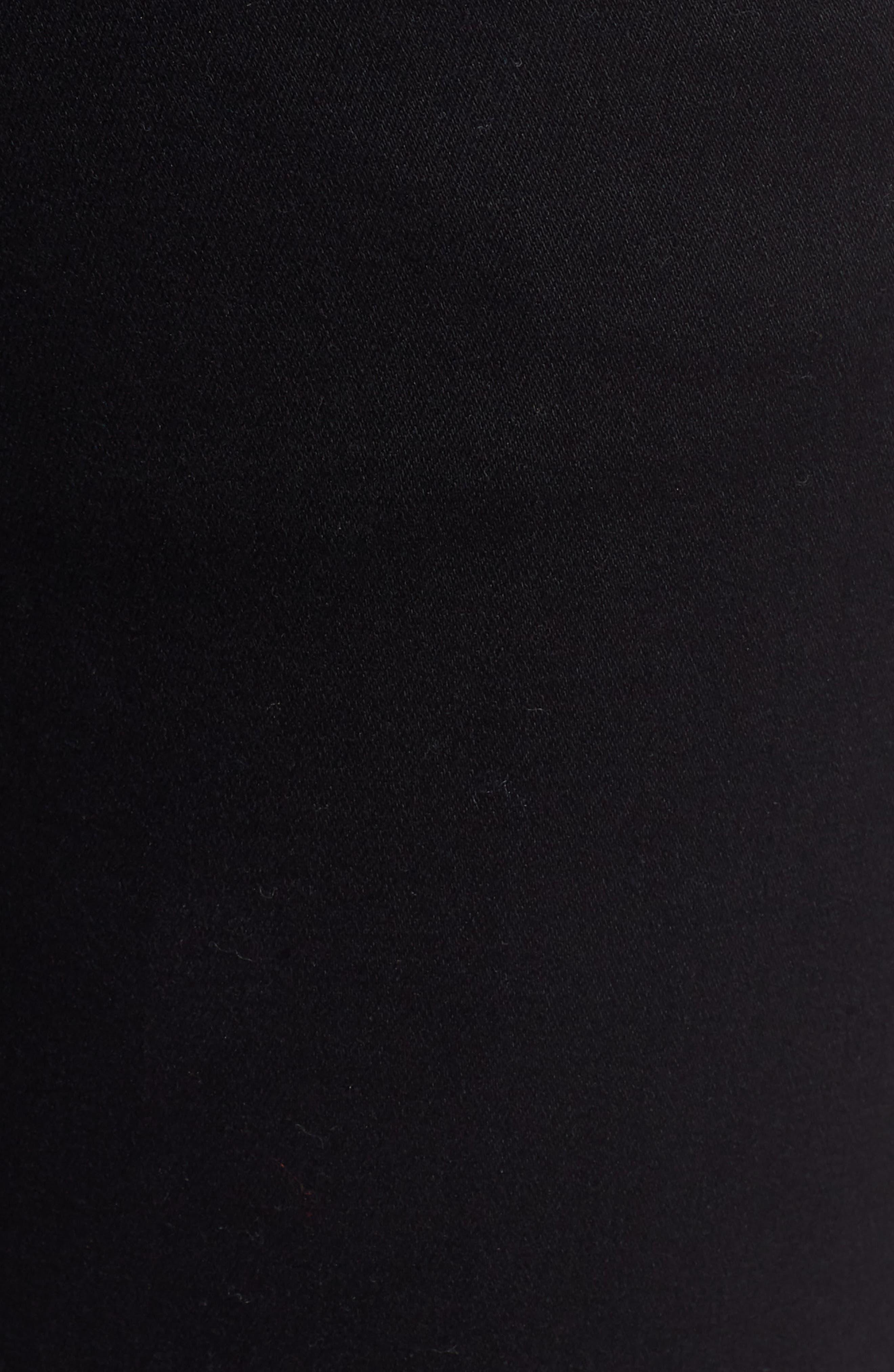 PROSPERITY DENIM, Side Stripe Ankle Skinny Jeans, Alternate thumbnail 6, color, BLACK