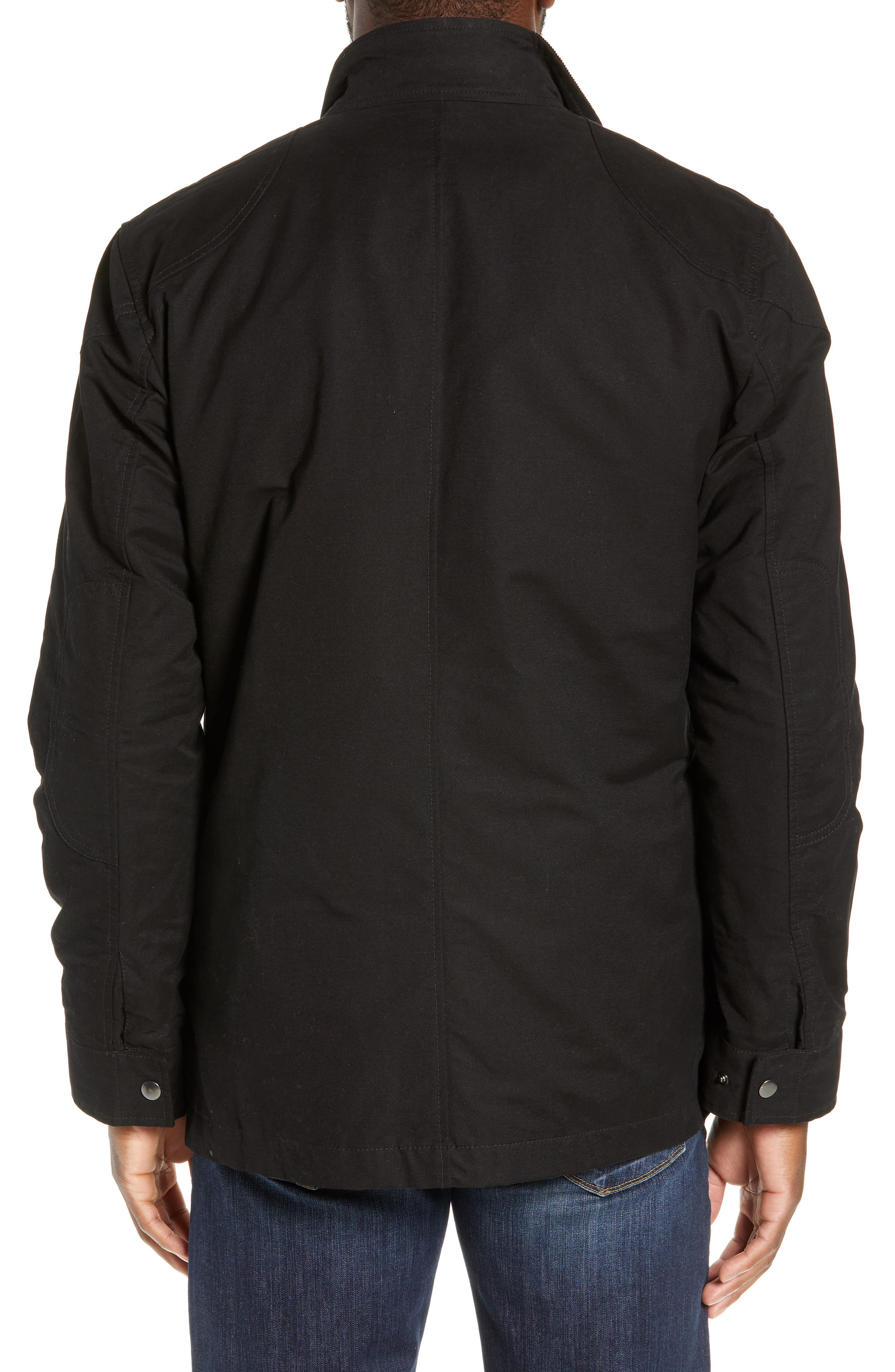 RODD & GUNN, 'Harper' Water Resistant 3-in-1 Waxed Canvas Jacket, Alternate thumbnail 4, color, ONYX