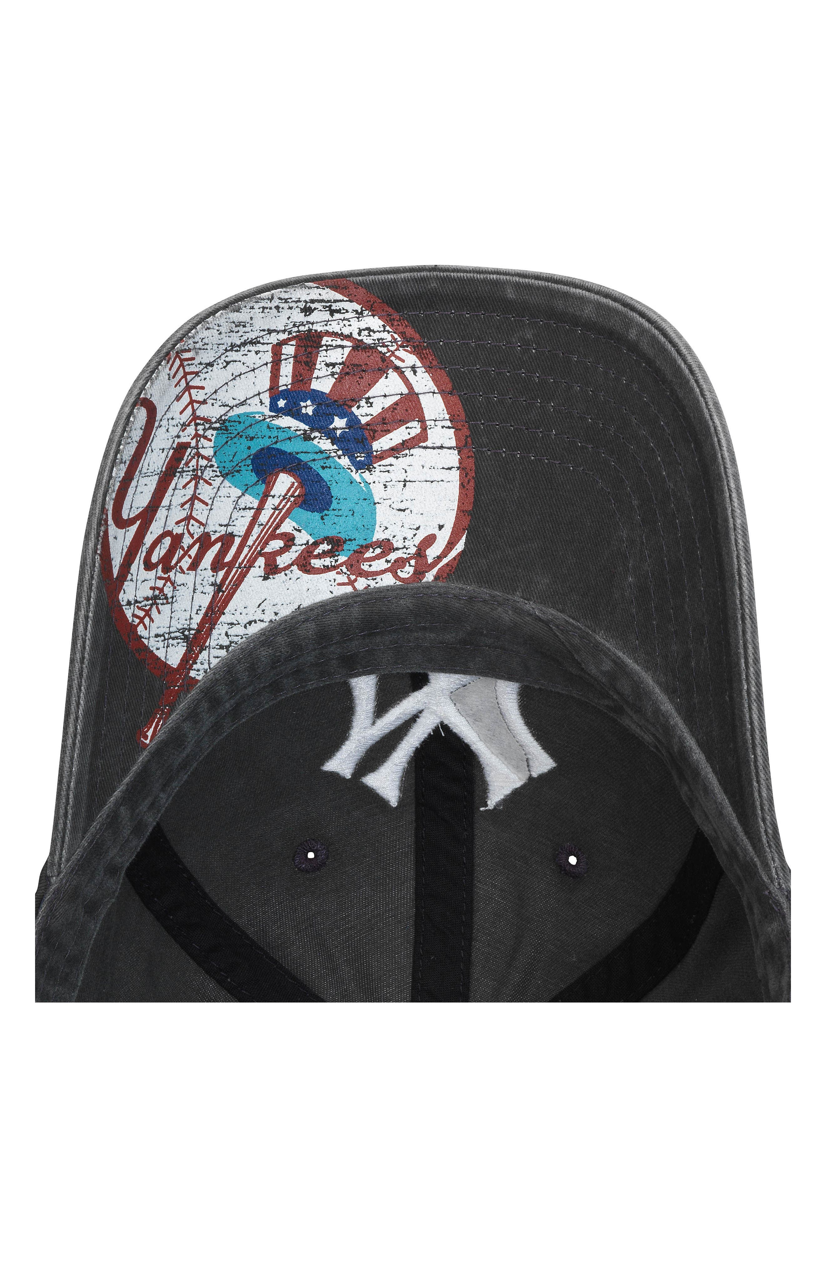 AMERICAN NEEDLE, New Raglan New York Yankees Baseball Cap, Alternate thumbnail 2, color, 001