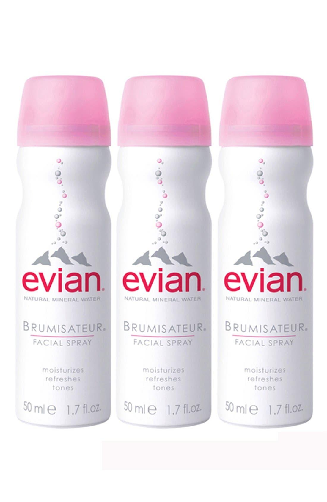 EVIAN,  Facial Water Spray Trio, Main thumbnail 1, color, NO COLOR