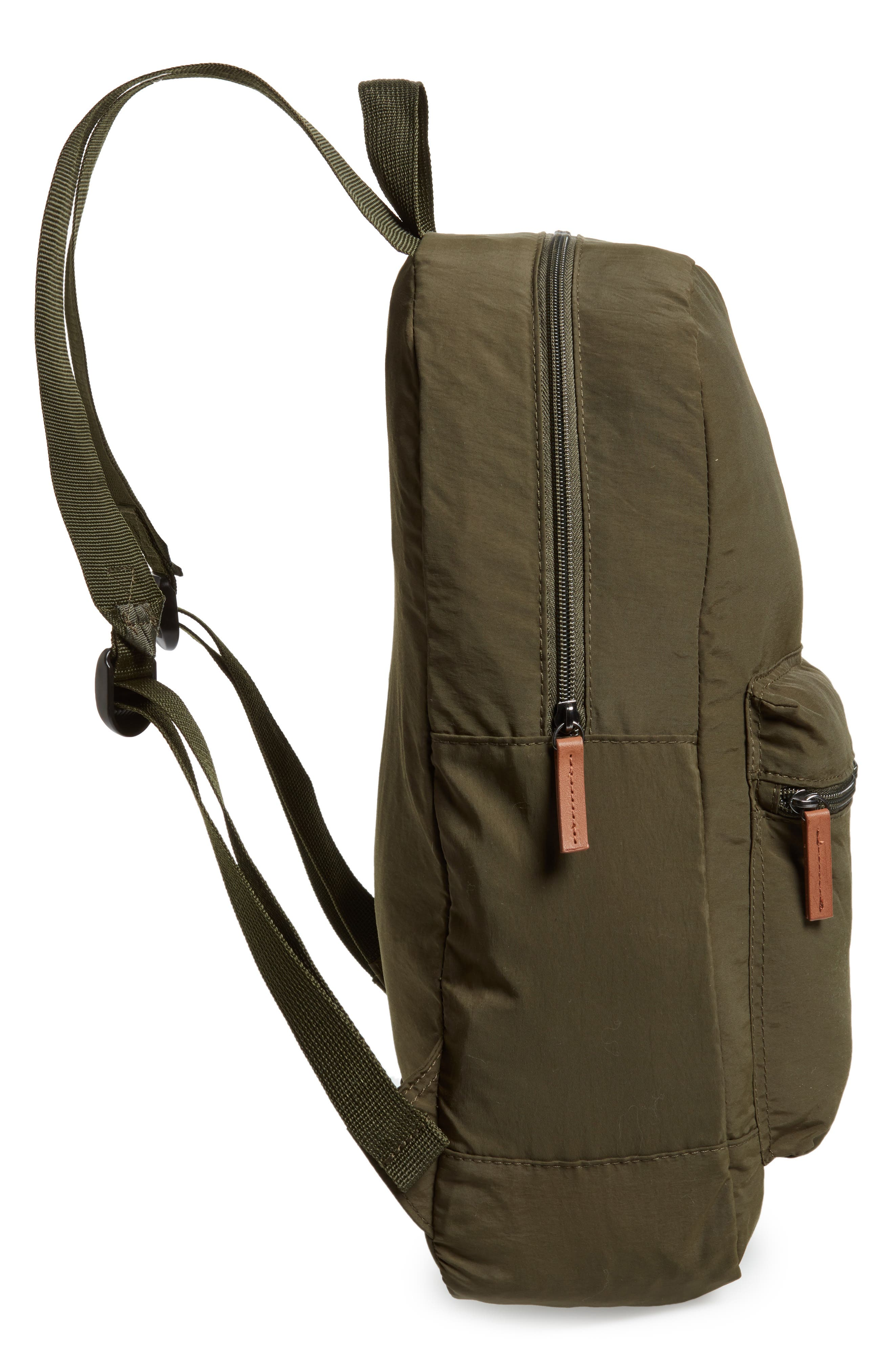 BARBOUR, Beauly Packable Backpack, Alternate thumbnail 5, color, DARK GREEN