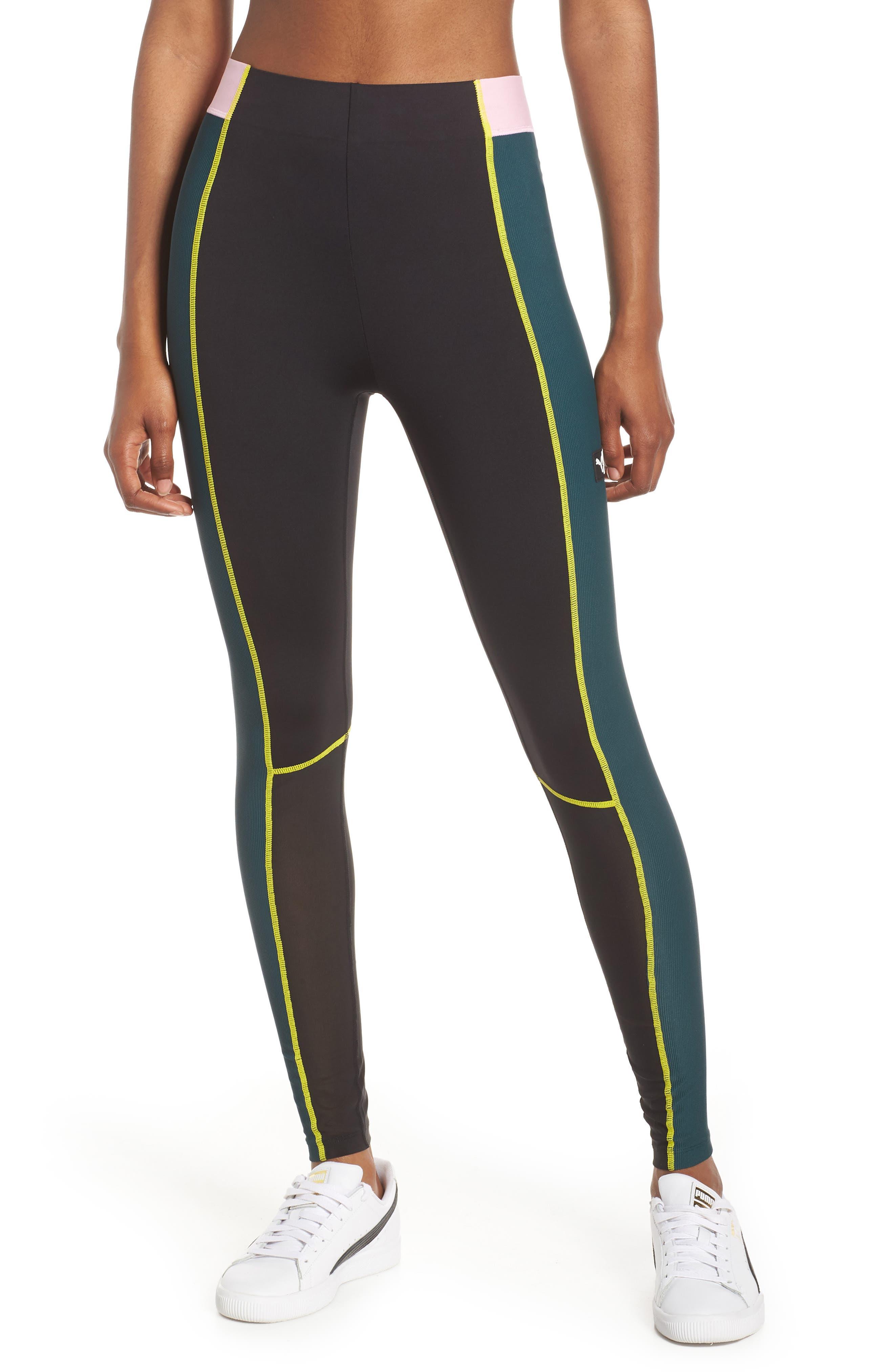 PUMA TZ High Waist Leggings, Main, color, PONDEROSA PINE