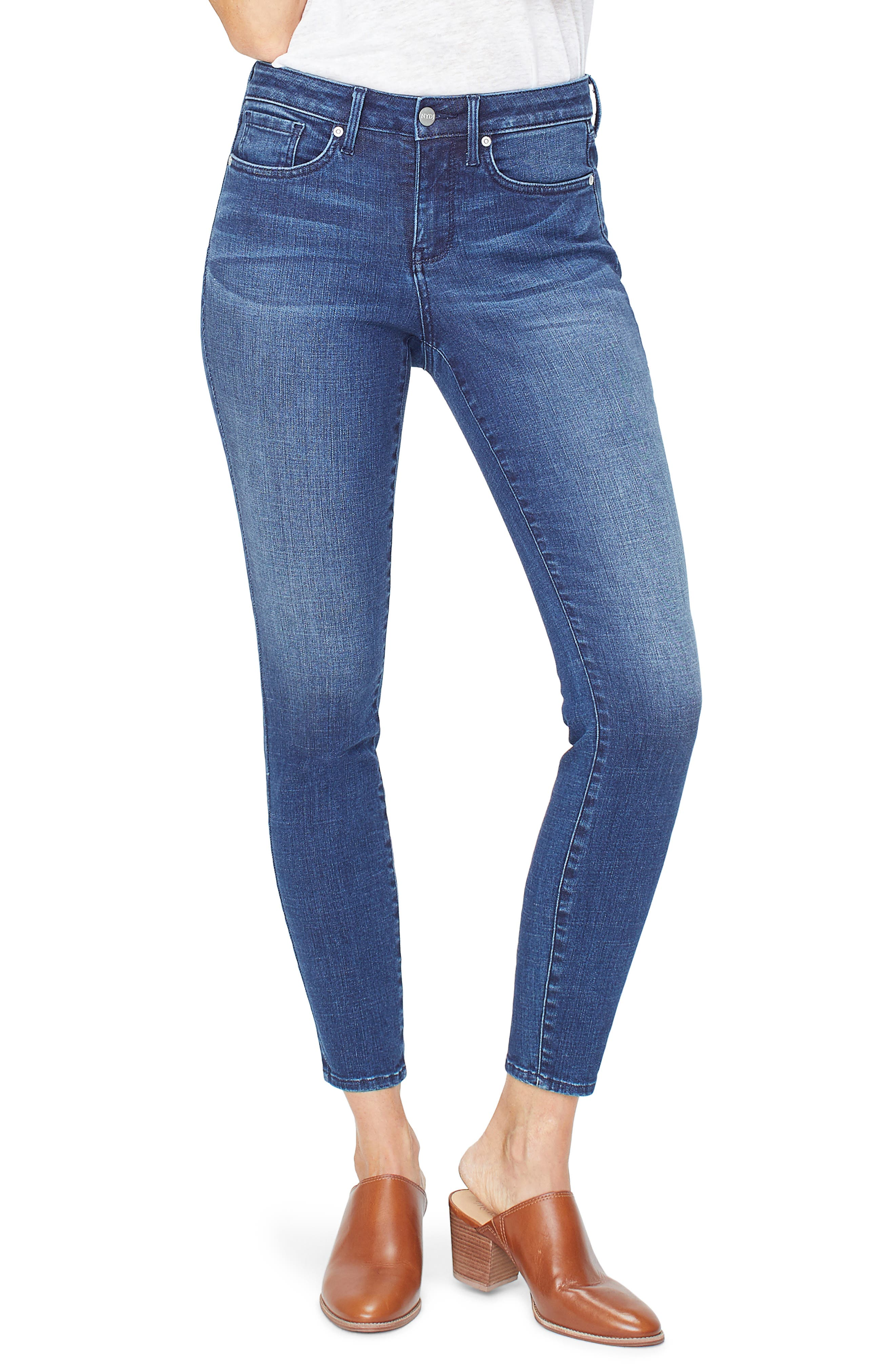 NYDJ, Ami Ankle Skinny Jeans, Main thumbnail 1, color, REGO