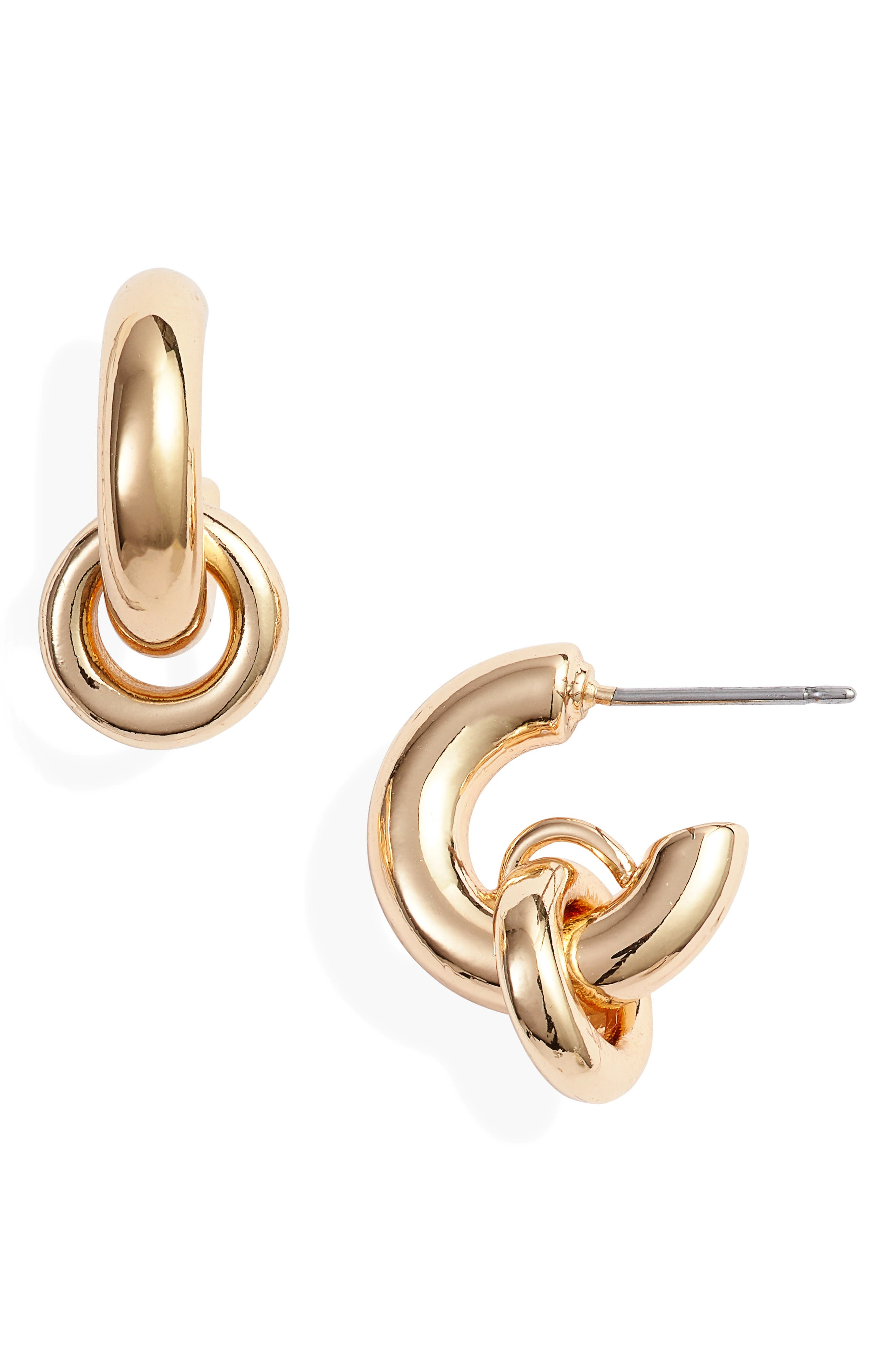 TREASURE & BOND, Huggie Hoop Earrings, Main thumbnail 1, color, 710