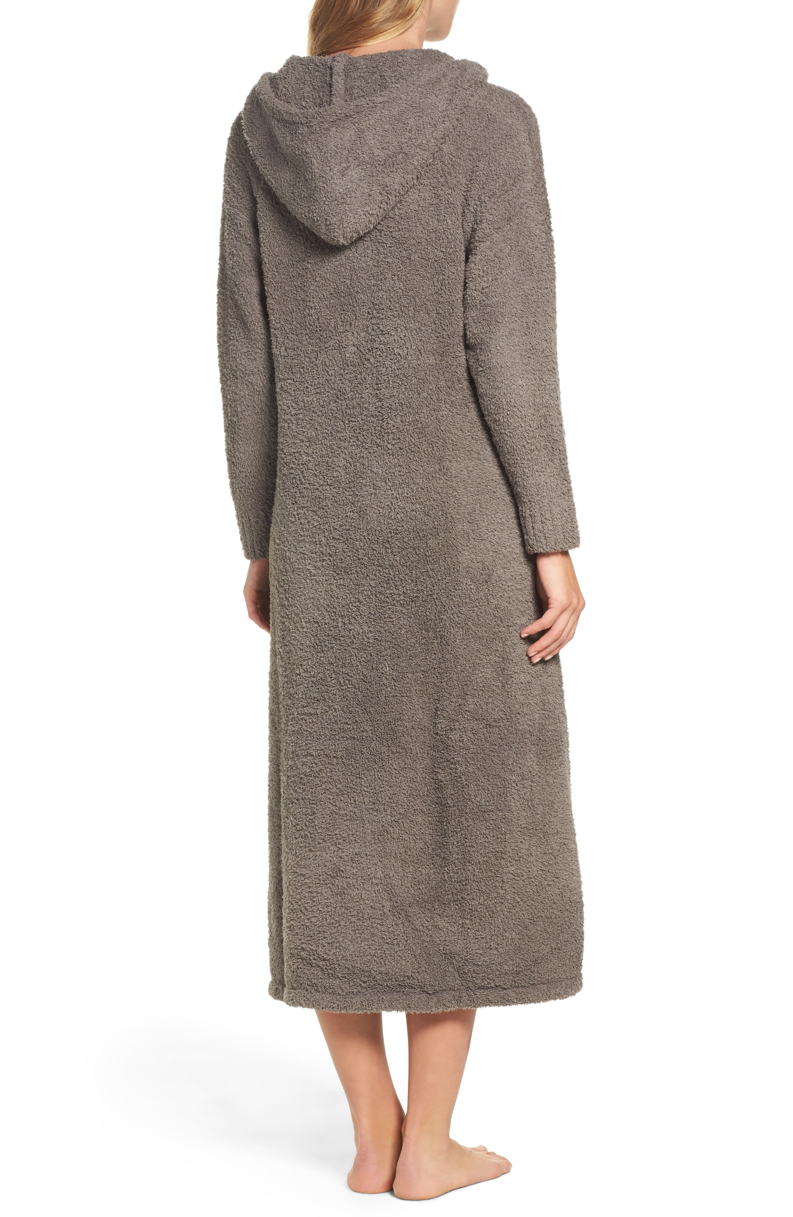 BAREFOOT DREAMS<SUP>®</SUP>, CozyChic<sup>®</sup> Hooded Zip Robe, Alternate thumbnail 2, color, 020