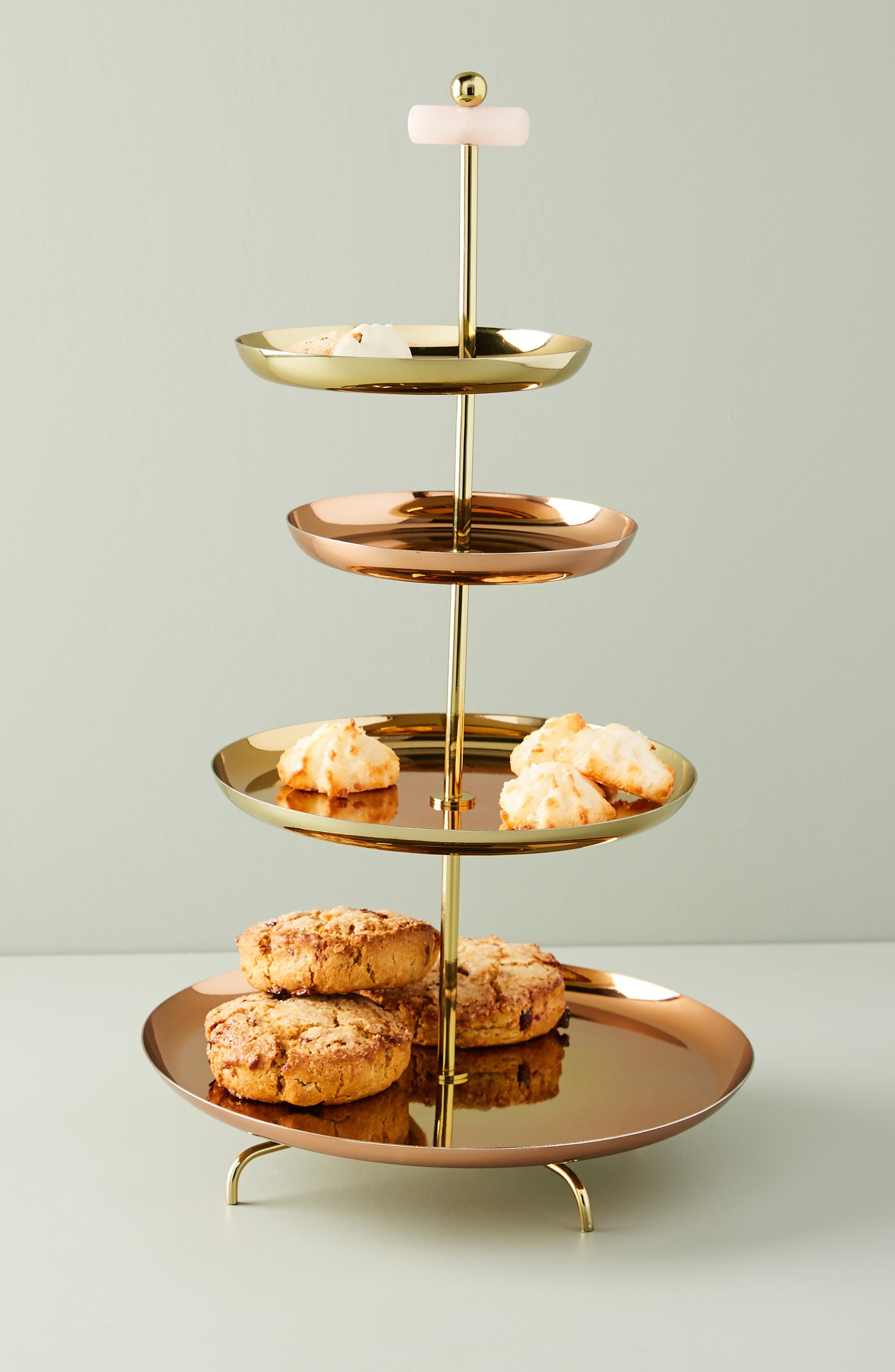ANTHROPOLOGIE, Glam Cookie Stand, Alternate thumbnail 5, color, FLAME