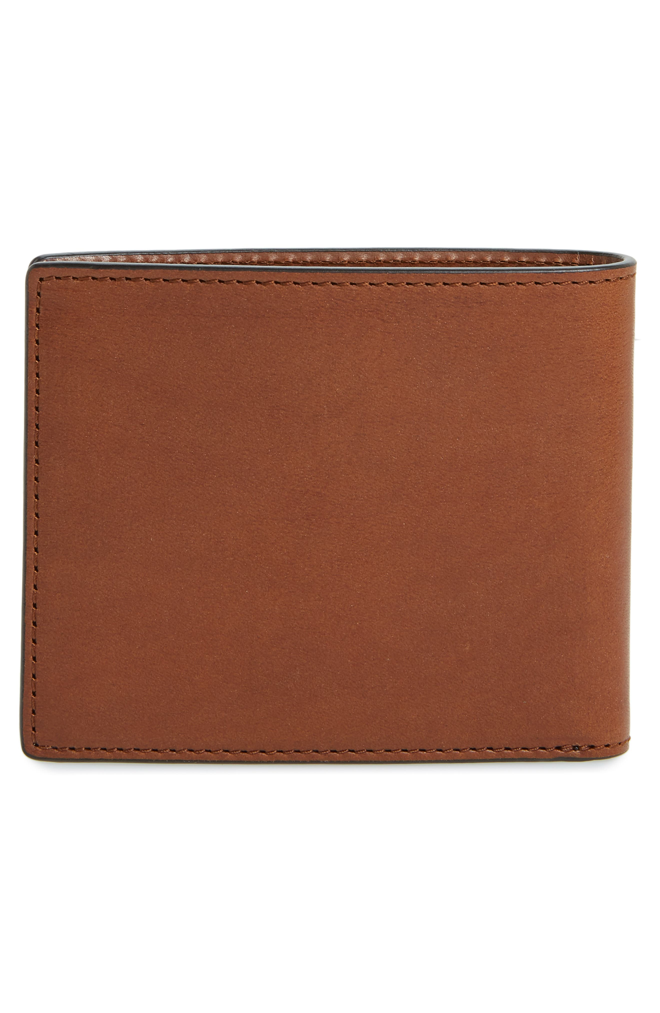 RAG & BONE, Hampshire Leather Bifold Wallet, Alternate thumbnail 3, color, BROWN COMBO
