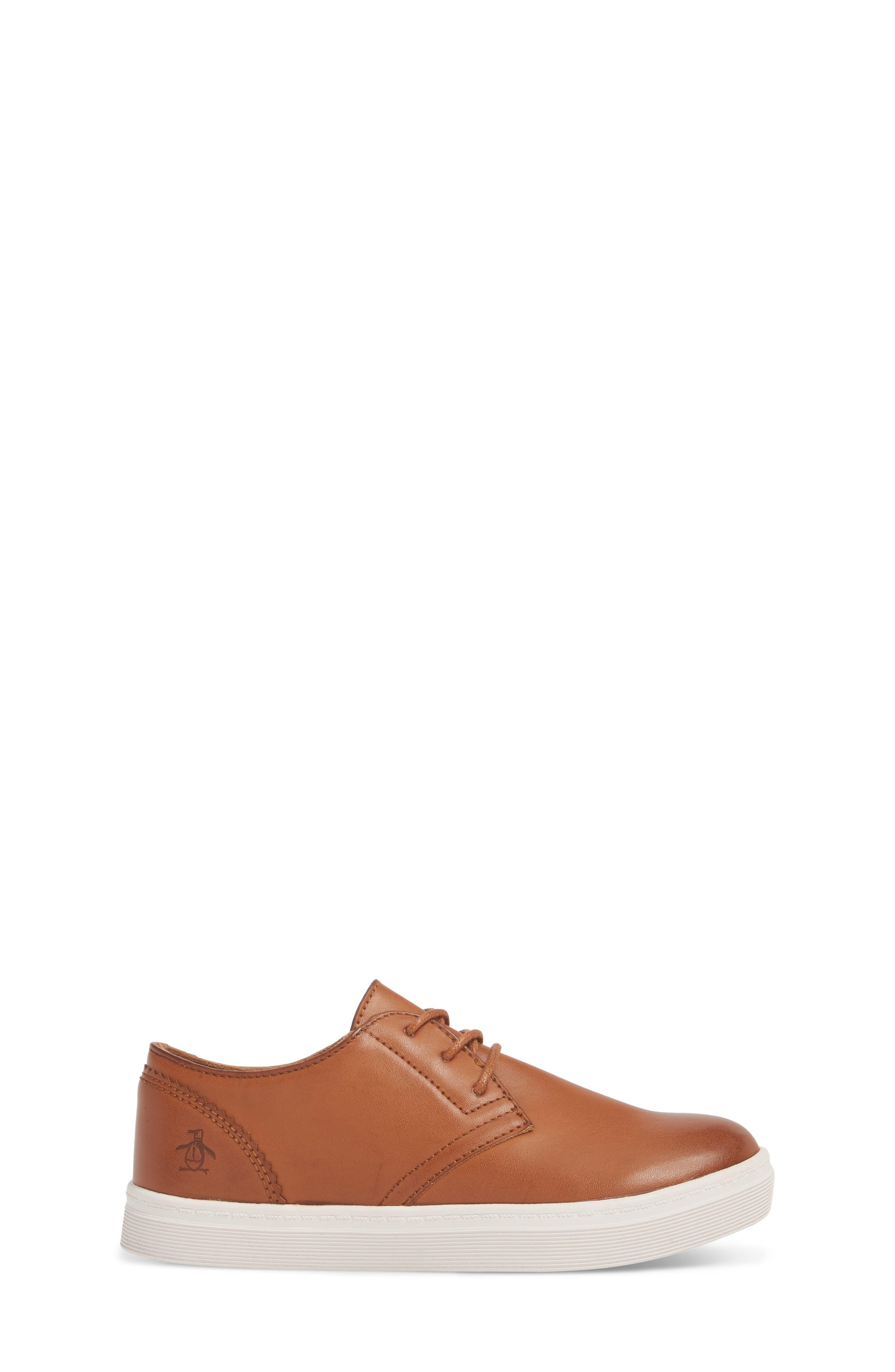 ORIGINAL PENGUIN, Freeland Sneaker, Alternate thumbnail 3, color, COGNAC