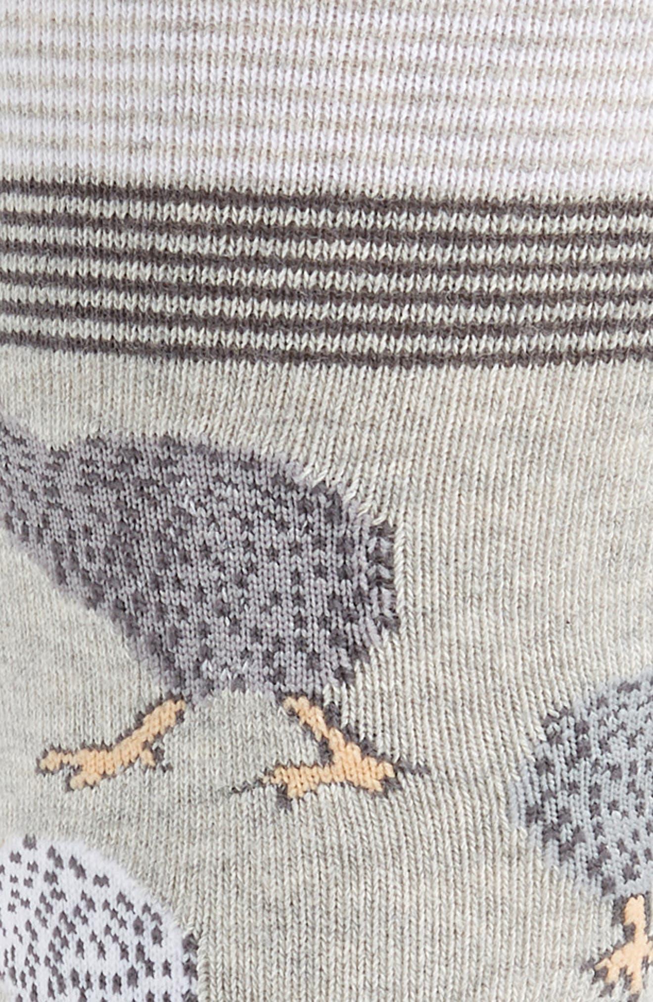CALIBRATE, Kiwi Birds Socks, Alternate thumbnail 2, color, GREY/ CHARCOAL