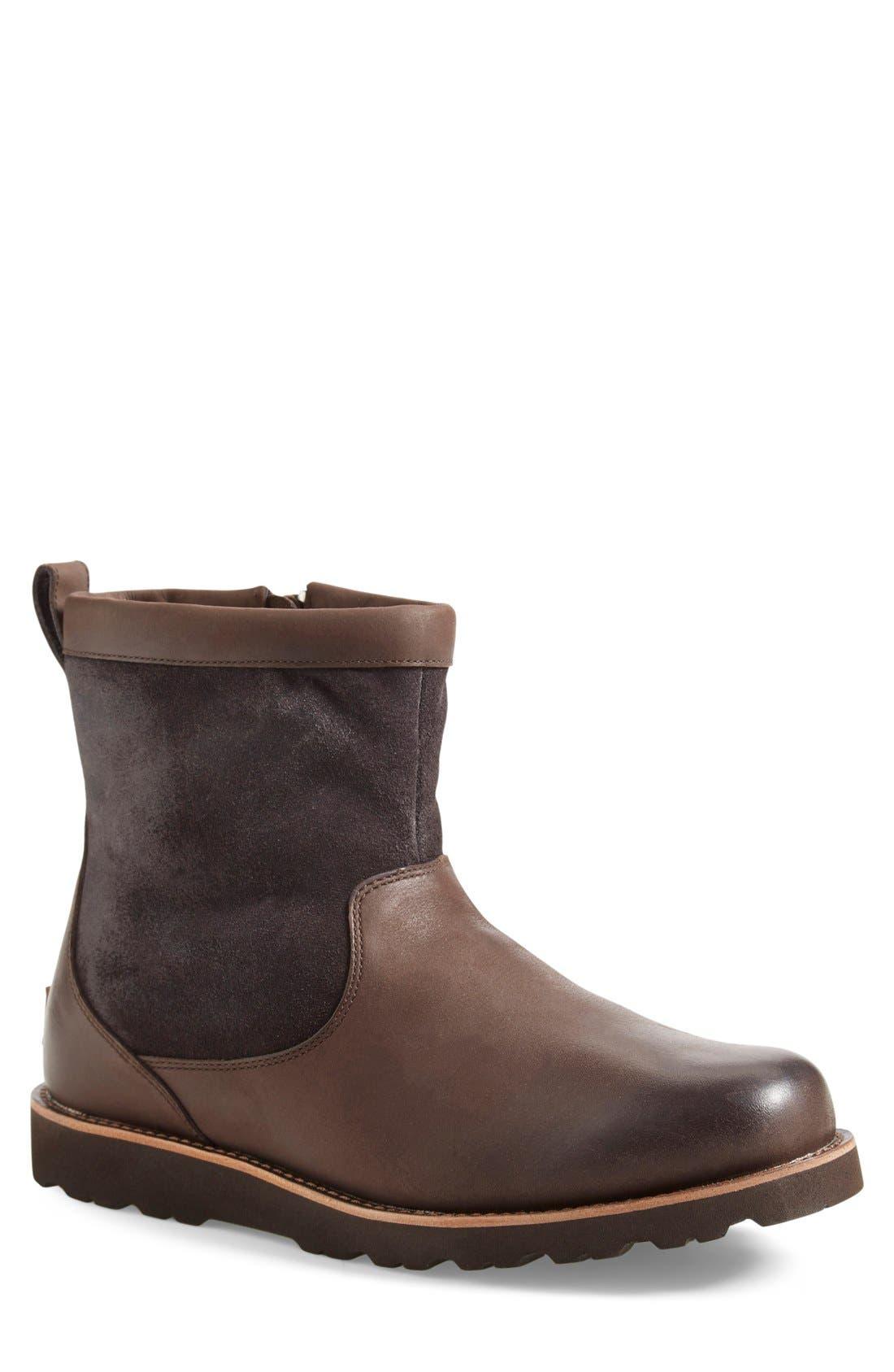 Ugg Hendren Tl Waterproof Zip Boot, Brown