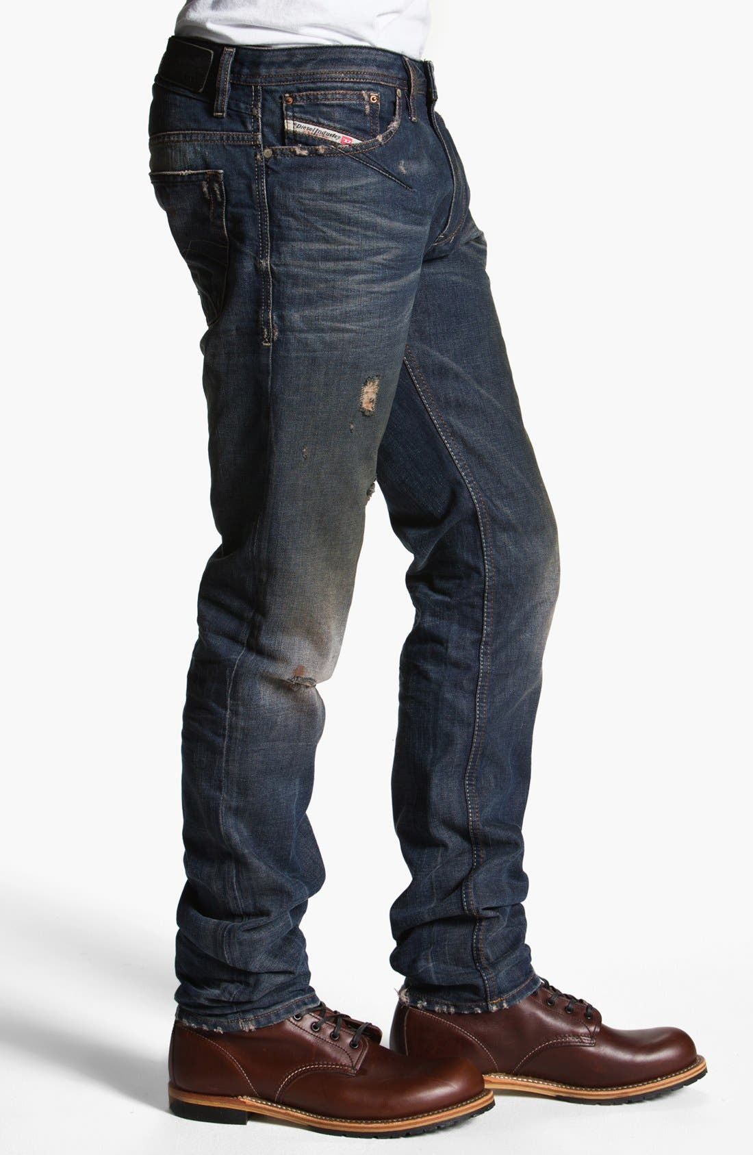 DIESEL<SUP>®</SUP>, 'Shioner' Skinny Fit Jeans, Alternate thumbnail 4, color, 400