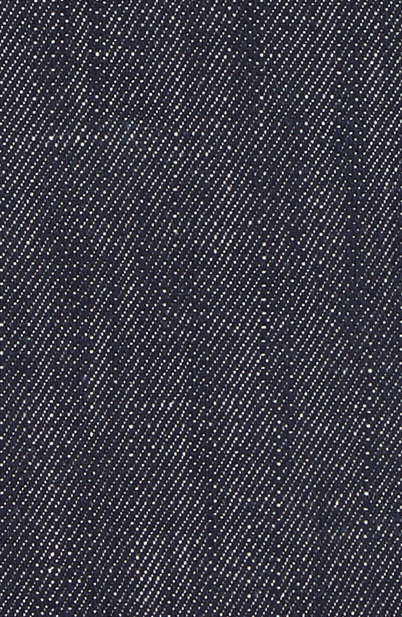 ELEVENTY, Denim Cotton Pocket Square, Alternate thumbnail 3, color, DENIM/ WHITE