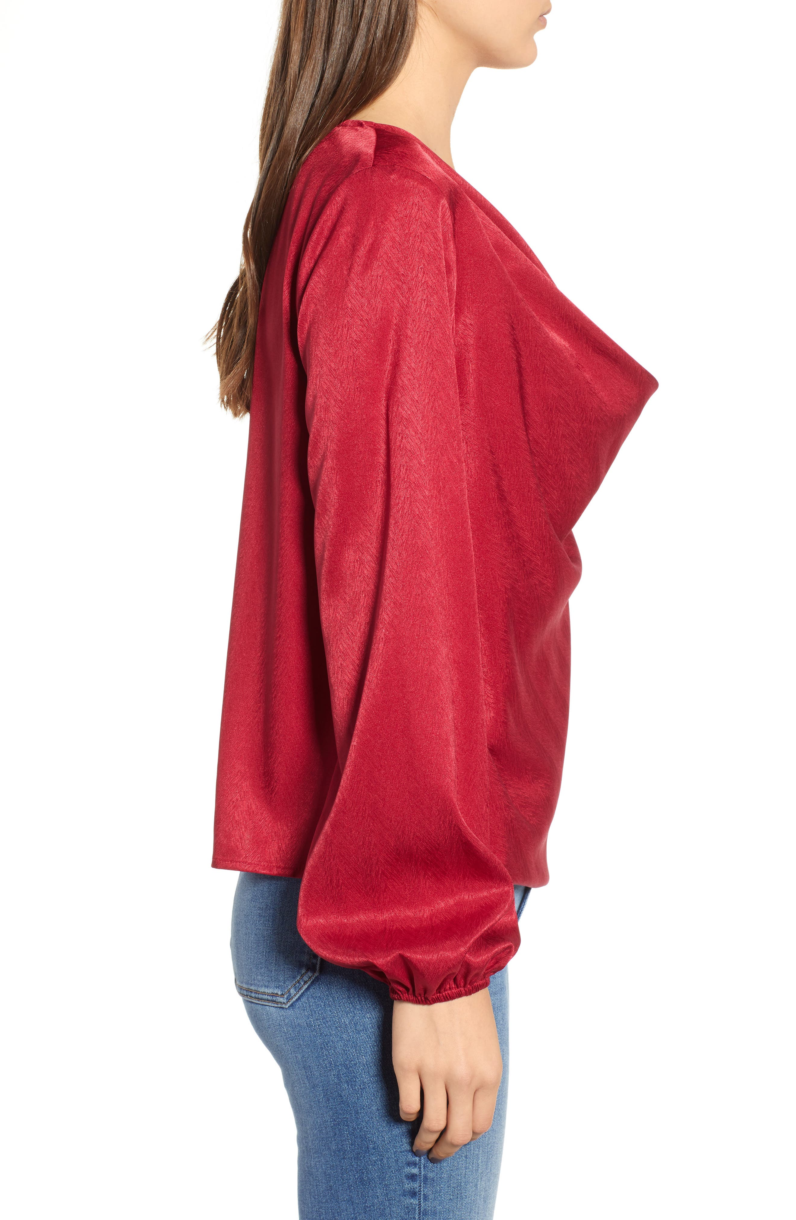 THE FIFTH LABEL, Lotti Cowl Neck Top, Alternate thumbnail 3, color, 600
