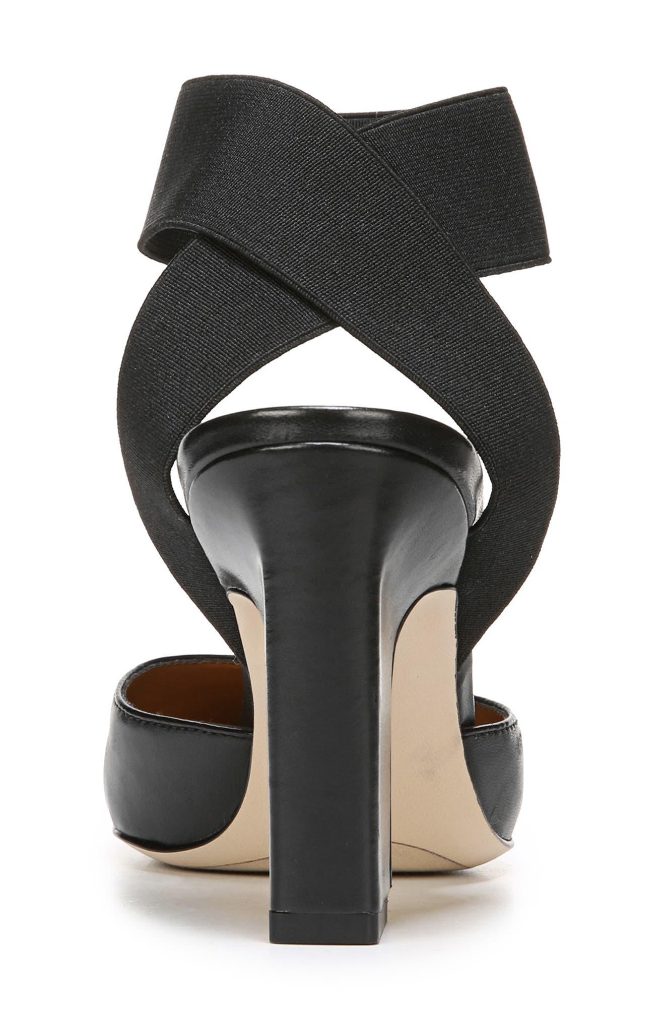 SARTO BY FRANCO SARTO, Stella Ankle Wrap Pump, Alternate thumbnail 7, color, BLACK LEATHER
