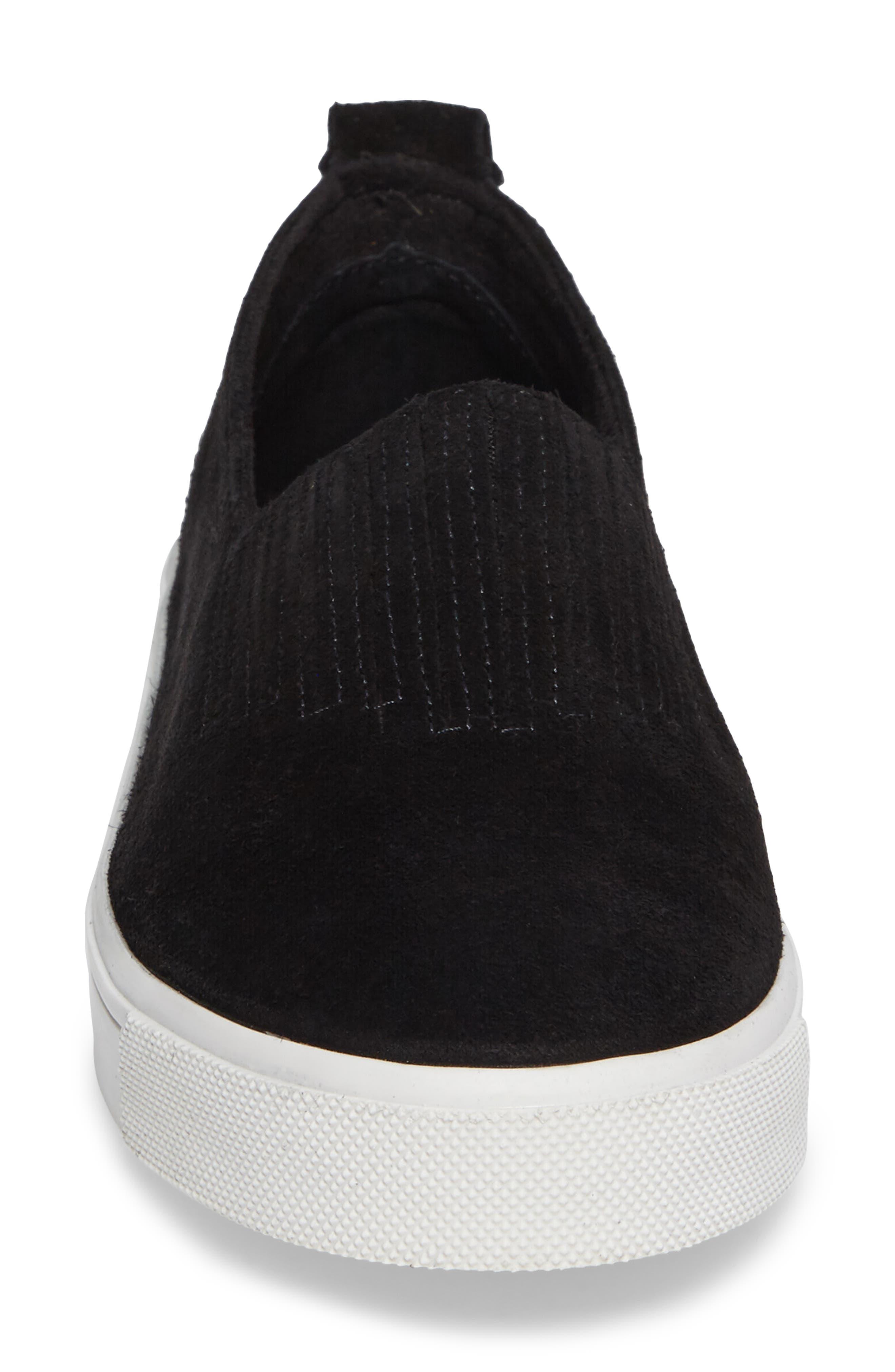 MINNETONKA, Gabi Slip-On Sneaker, Alternate thumbnail 4, color, BLACK