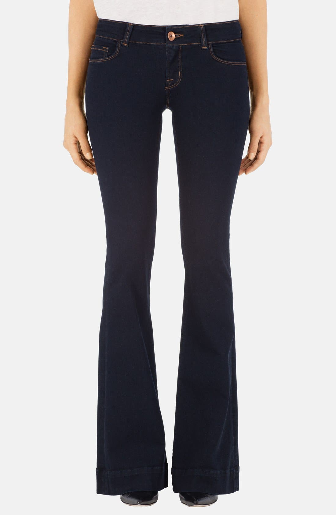 J BRAND, 'Love Story' Flare Jeans, Main thumbnail 1, color, 409