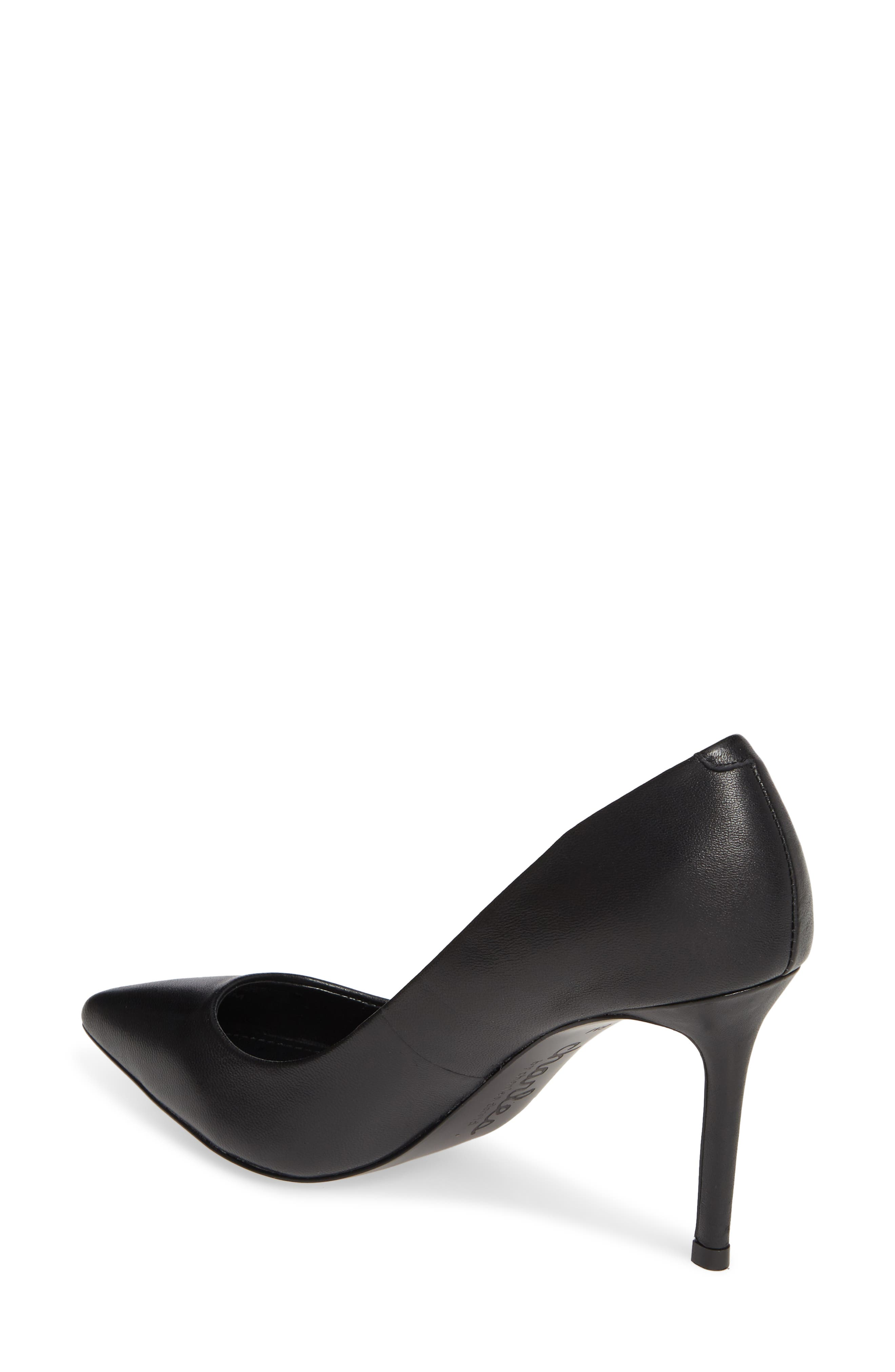 CHARLES BY CHARLES DAVID, Vicky Pump, Alternate thumbnail 2, color, BLACK LEATHER