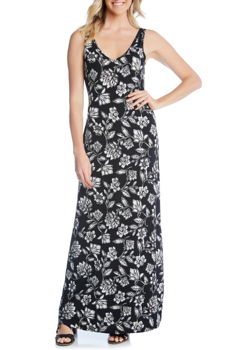 Karen Kane Dresses FLORAL PRINT MAXI DRESS