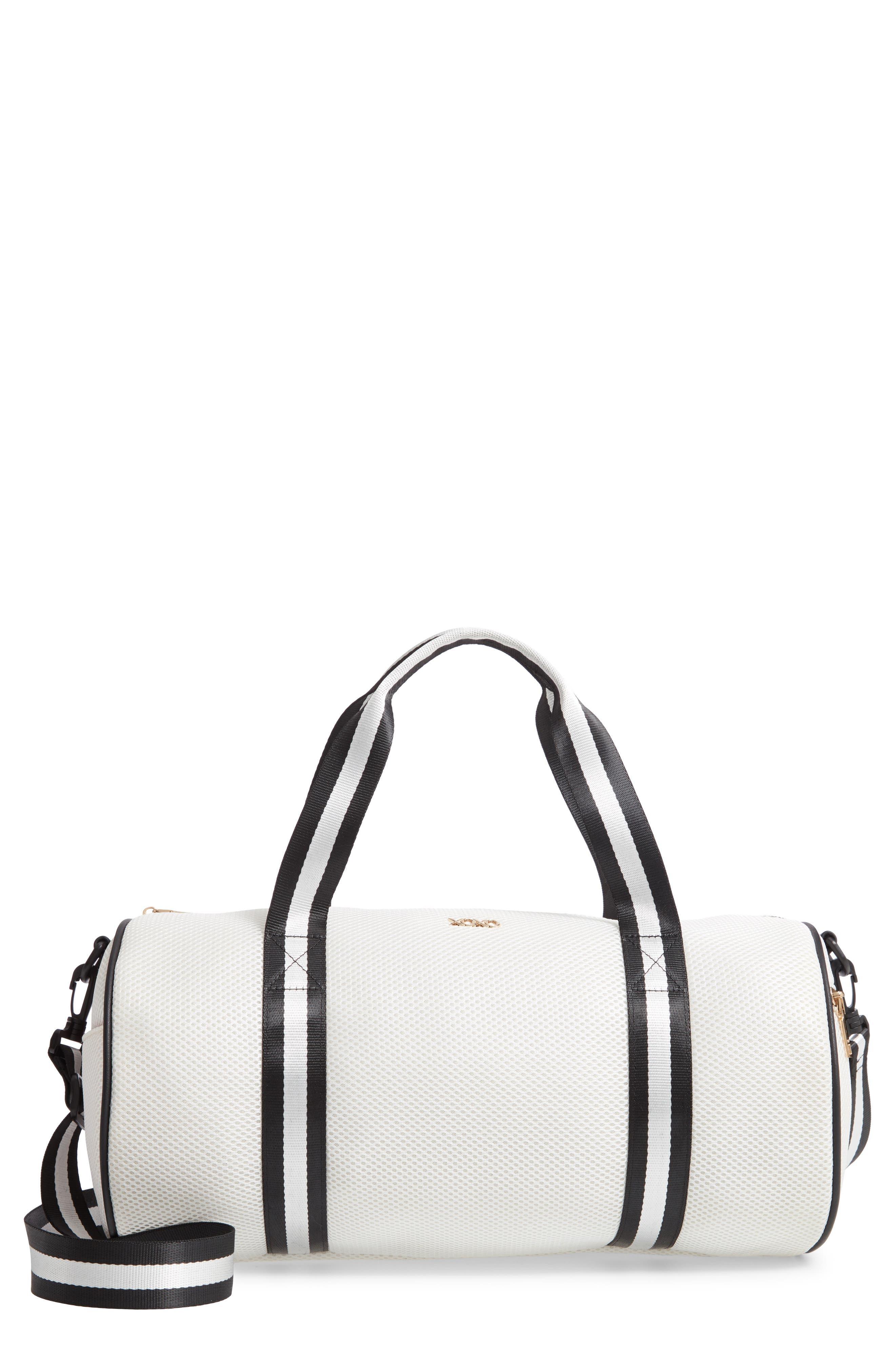YOKI BAGS, Mesh Duffle Bag, Main thumbnail 1, color, WHITE MULTI