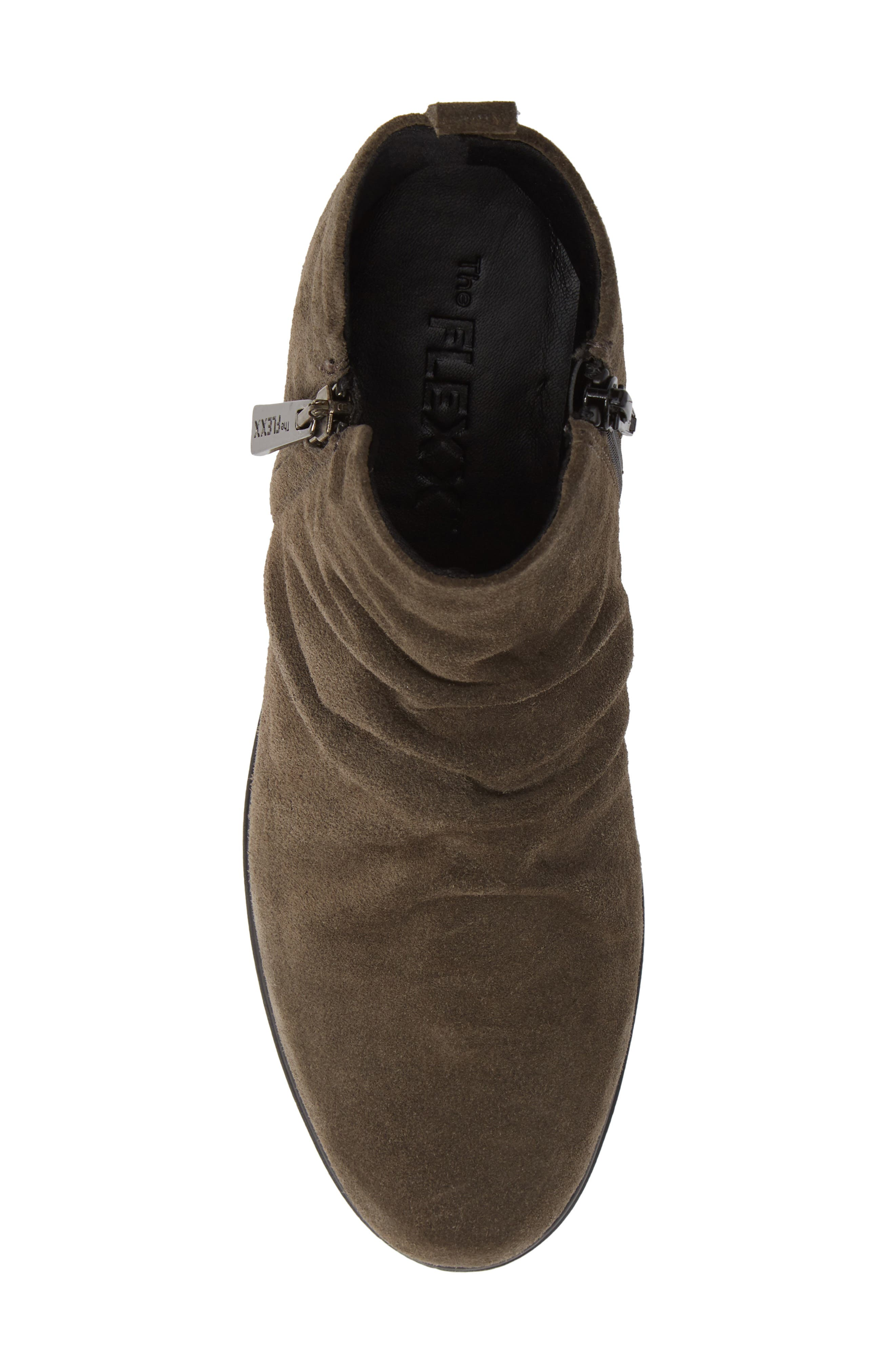 THE FLEXX, Slingshot Ankle Bootie, Alternate thumbnail 5, color, BROWN SUEDE