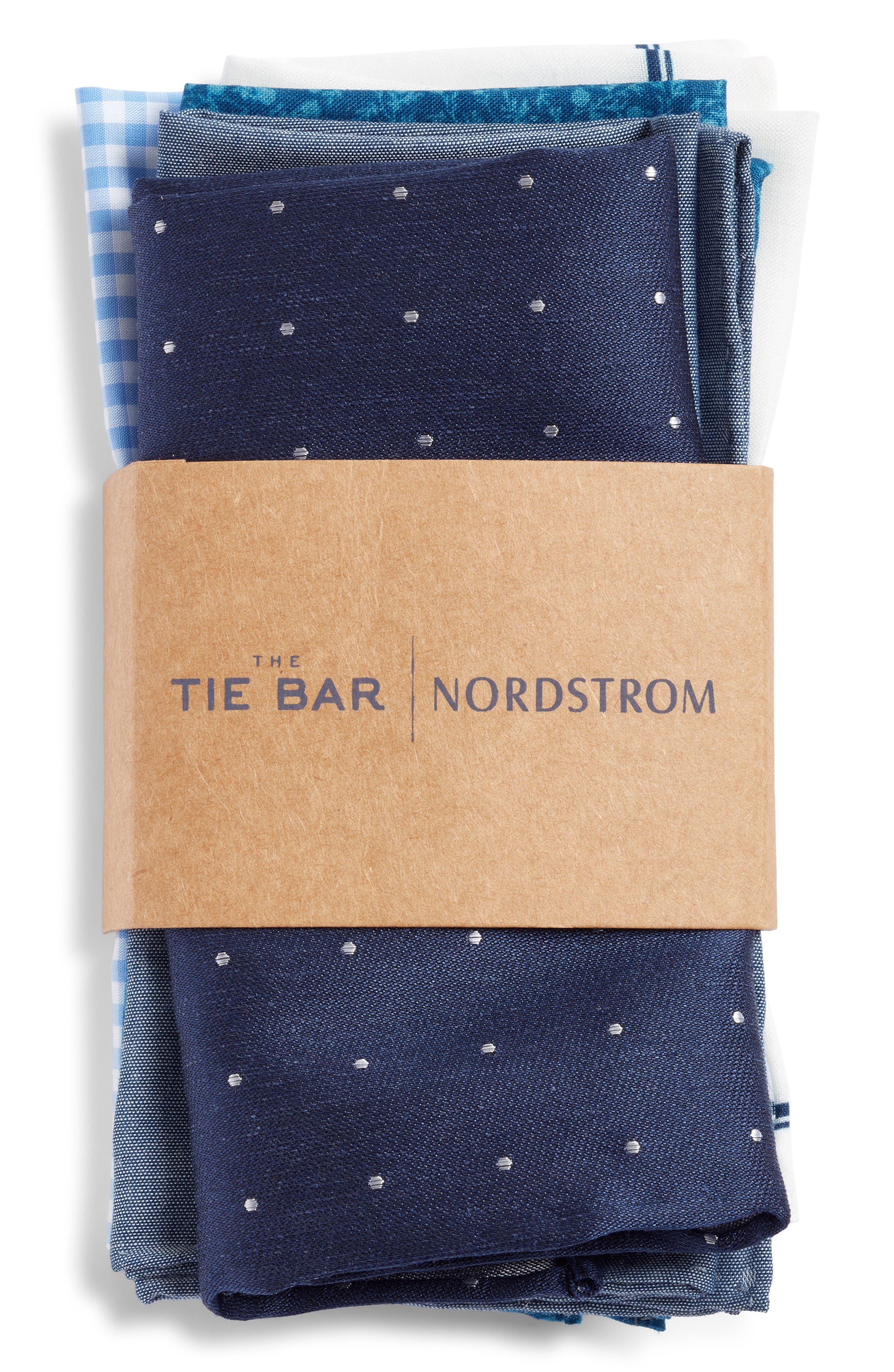 THE TIE BAR, Set of 5 Pocket Squares, Alternate thumbnail 2, color, 467